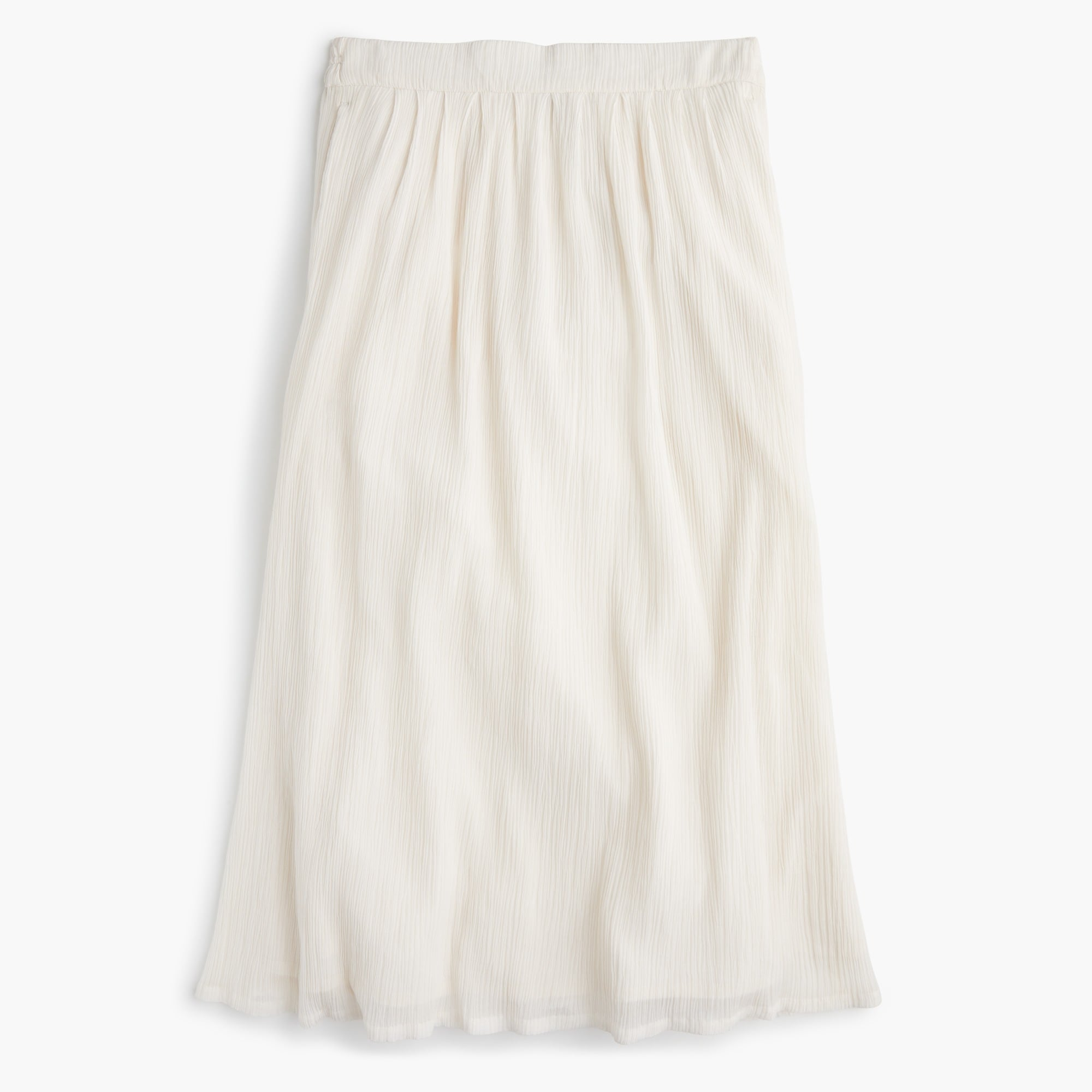 Image 2 for Petite crinkly pull-on midi skirt
