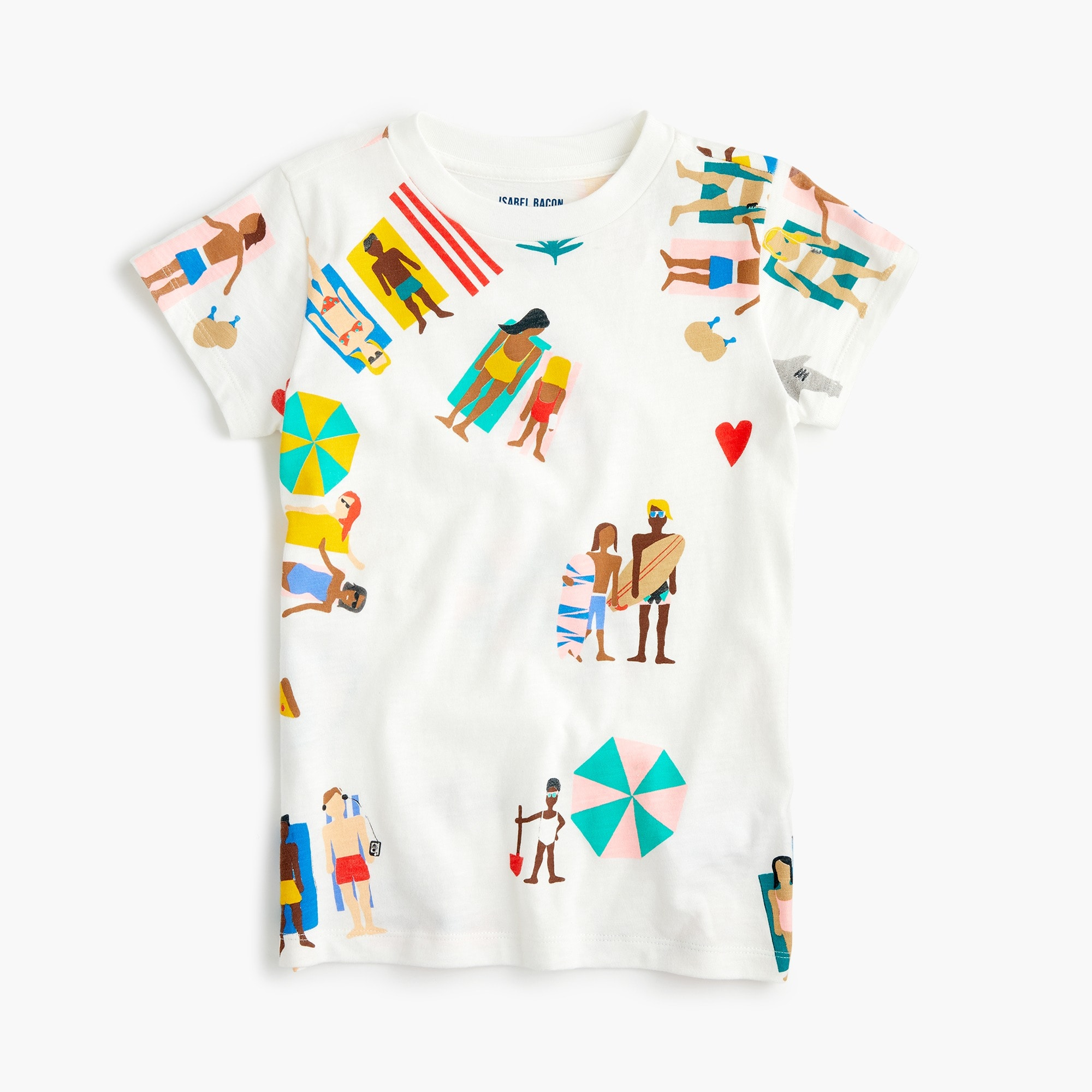 Image 2 for Girls' crewcuts x Isabel Bacon T-shirt