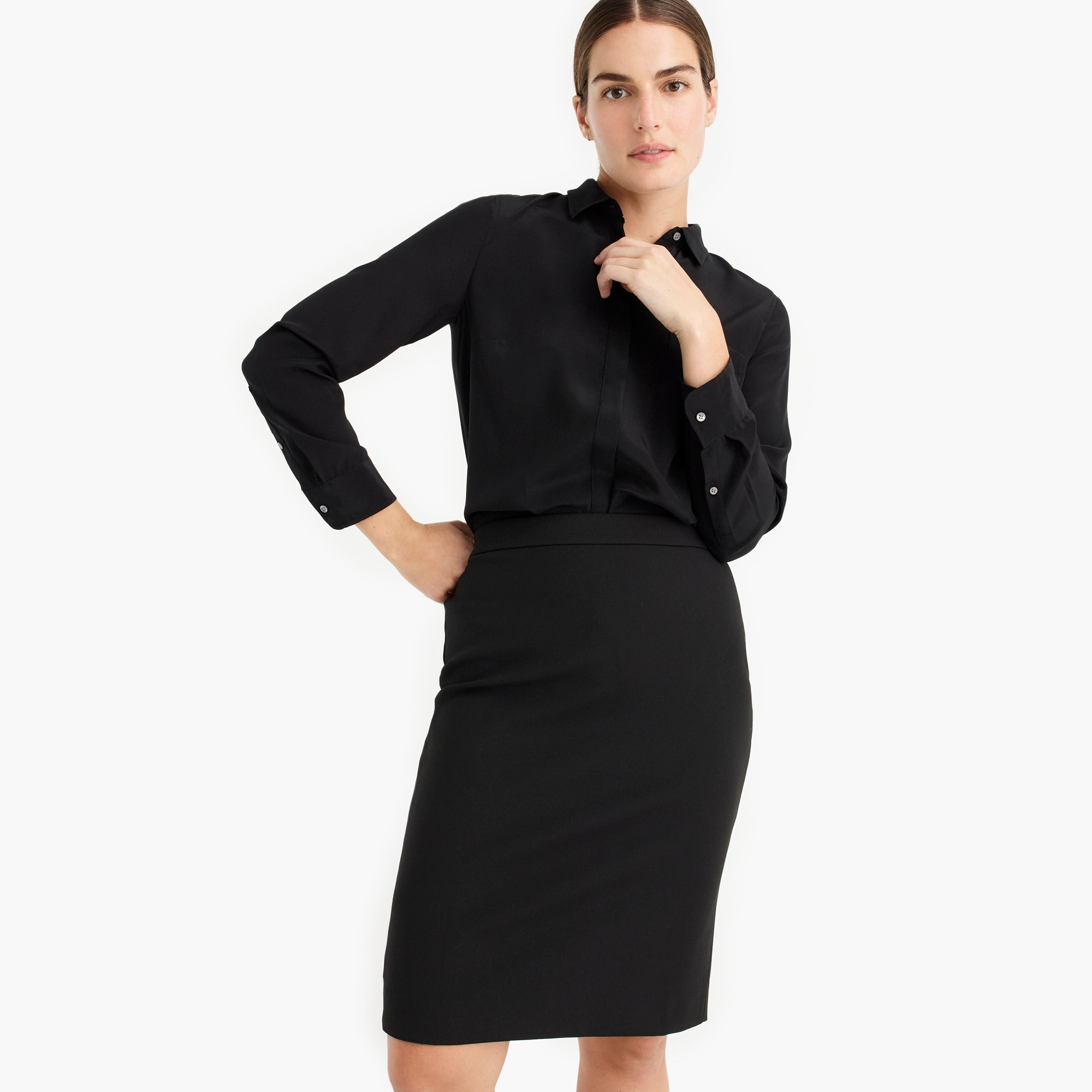 womens No. 2 pencil skirt in four-season stretch