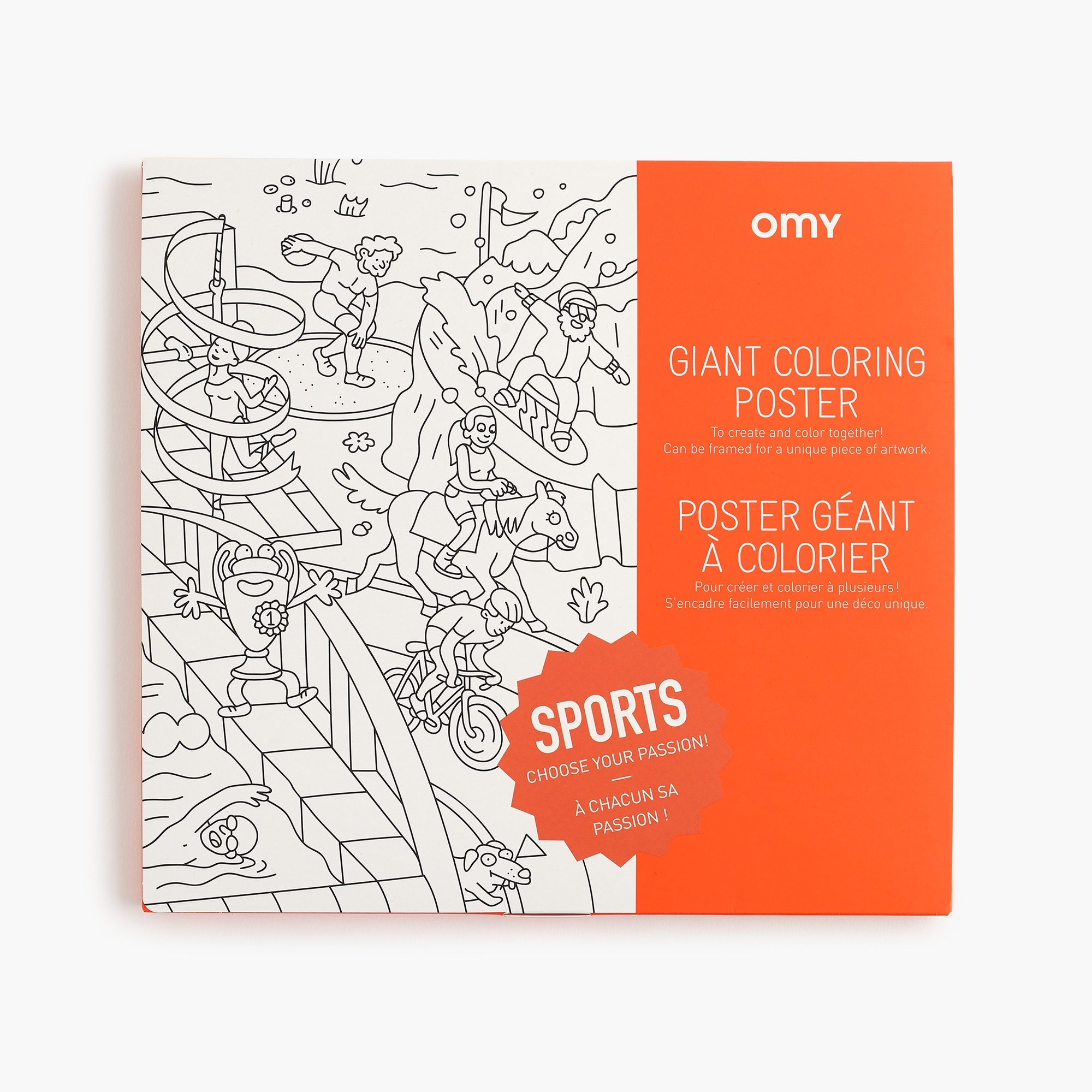boys Kids' Omy giant coloring poster in sports