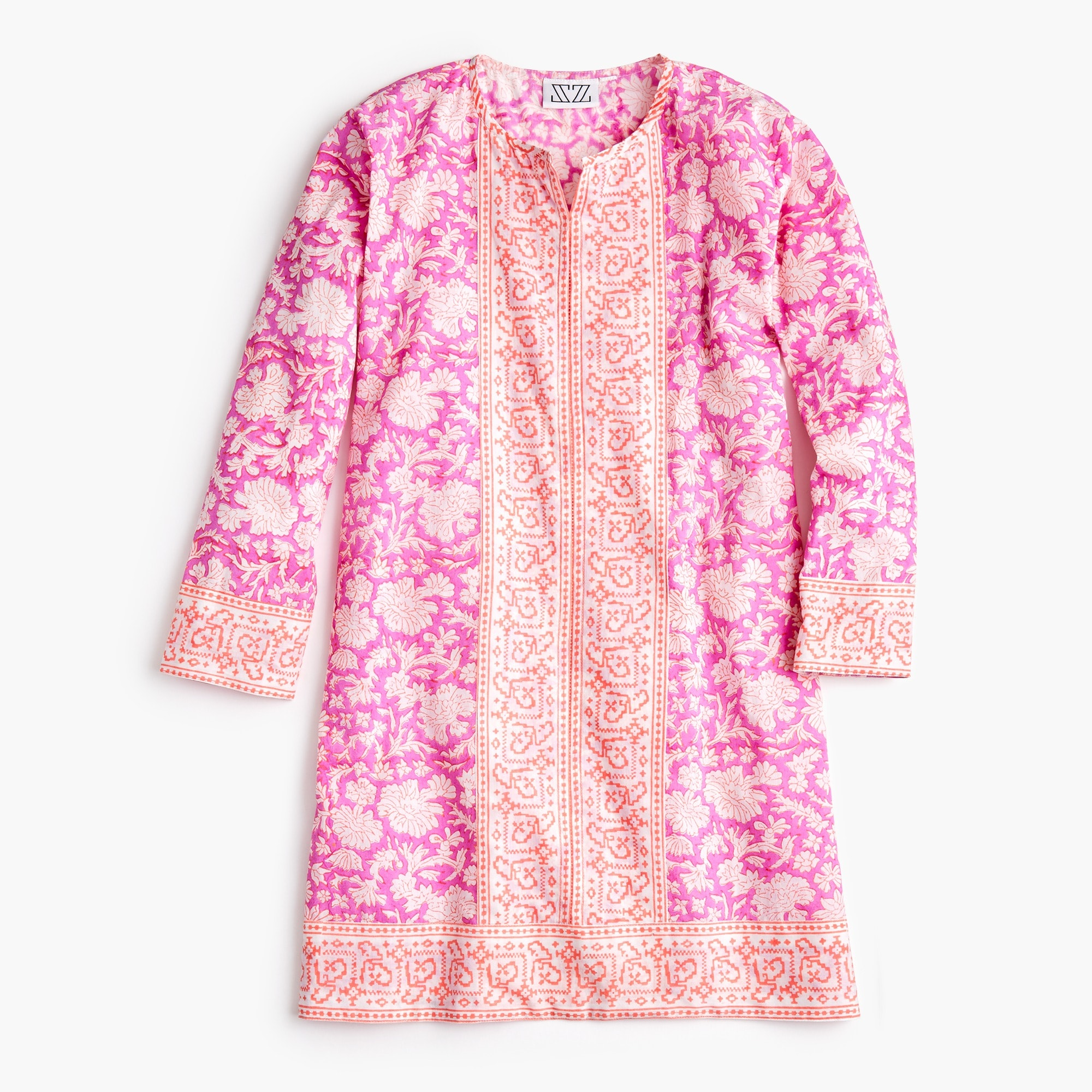 girls Girls' SZ Blockprints™ for crewcuts Kurta tunic in pink floral