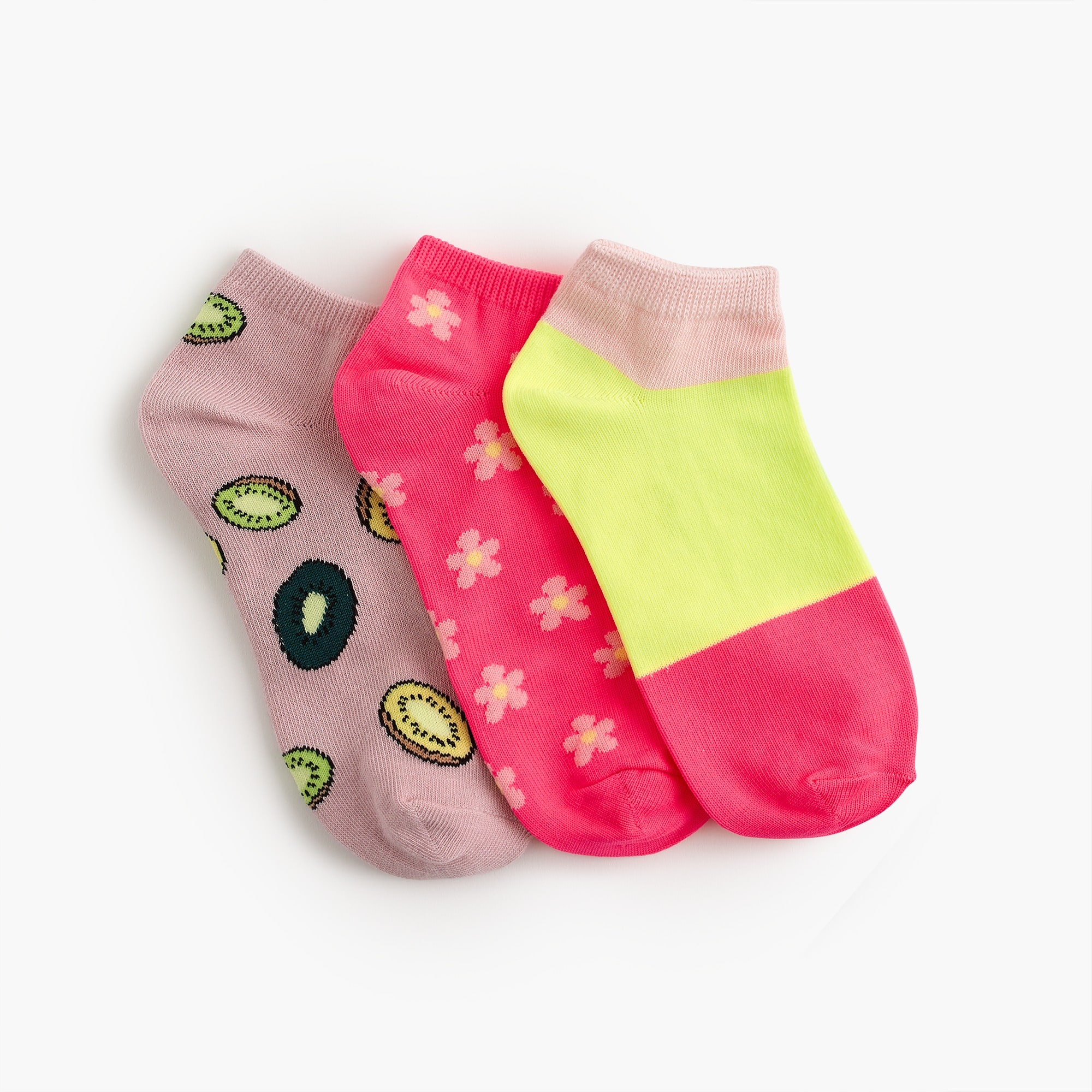 Image 1 for Girls' ankle socks three-pack