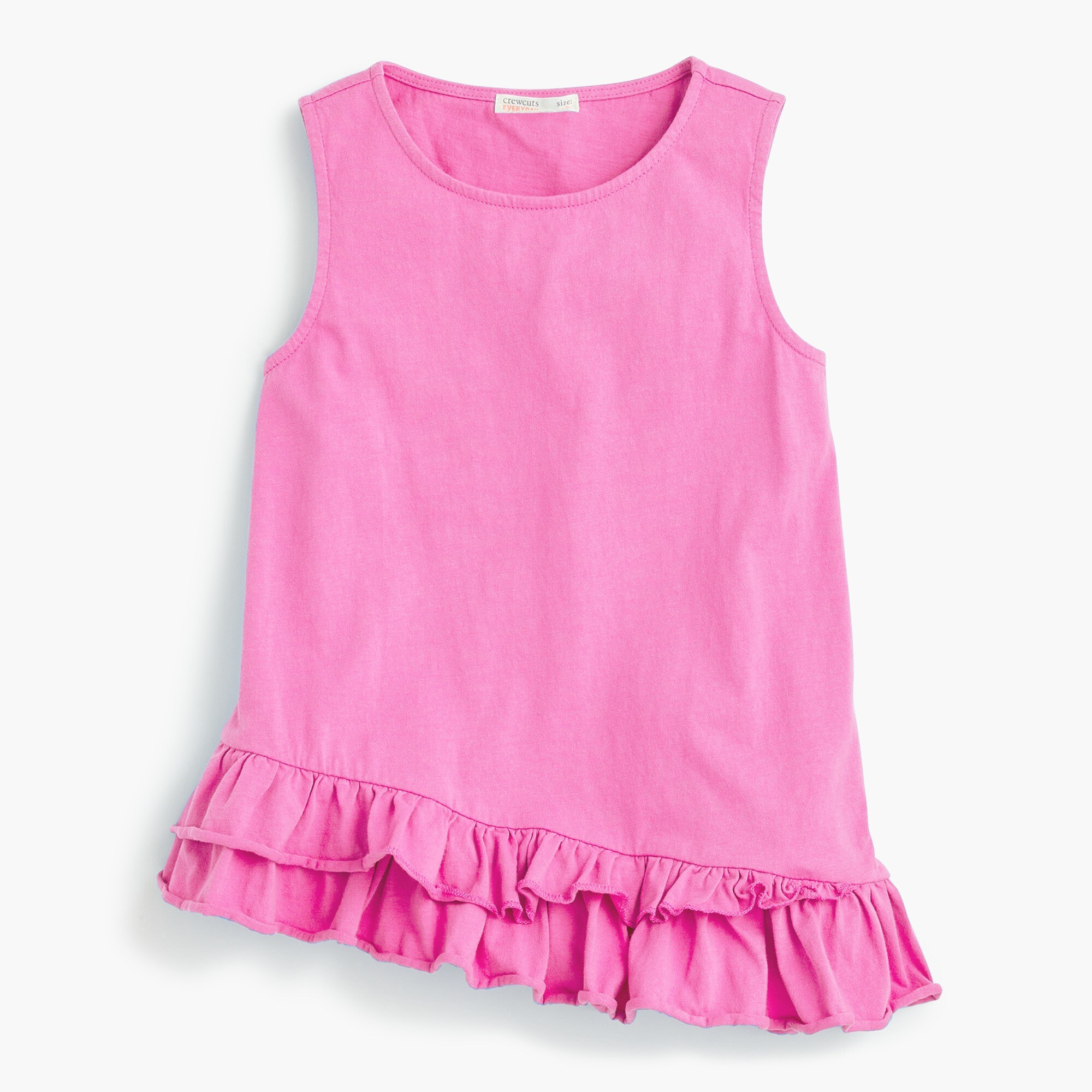 girls Girls' ruffle-hem tank top