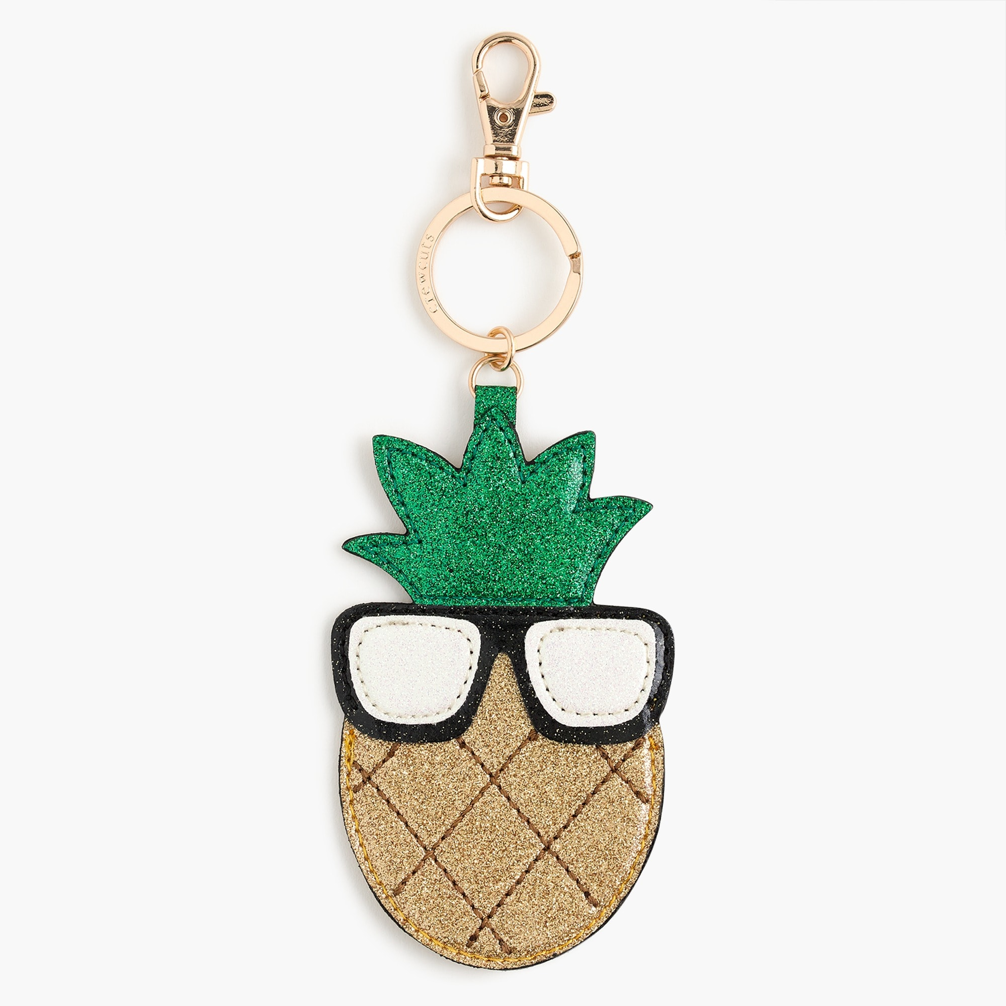 Image 1 for Girls' pineapple emoji keychain