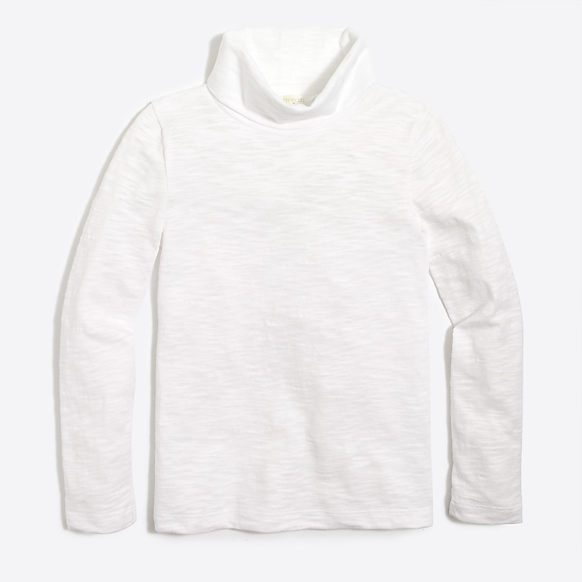 factory: girls' long-sleeve turtleneck for girls, right side, view zoomed
