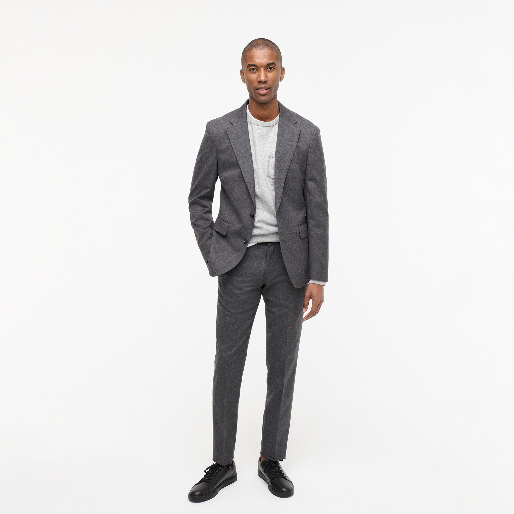 mens Ludlow Slim-fit unstructured suit jacket in English wool-cotton twill