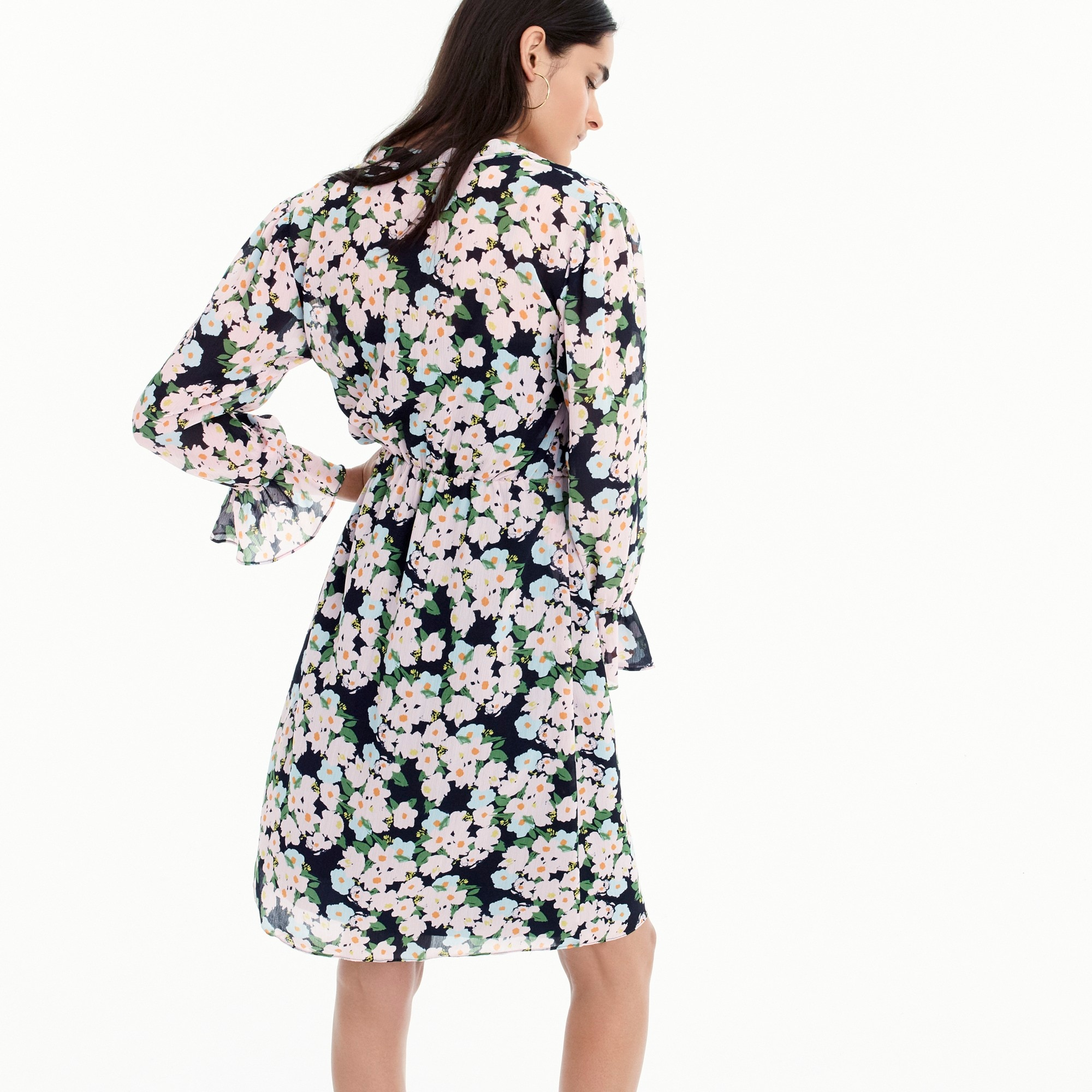 Image 3 for Tall J.Crew Mercantile drapey tie-front dress in French floral