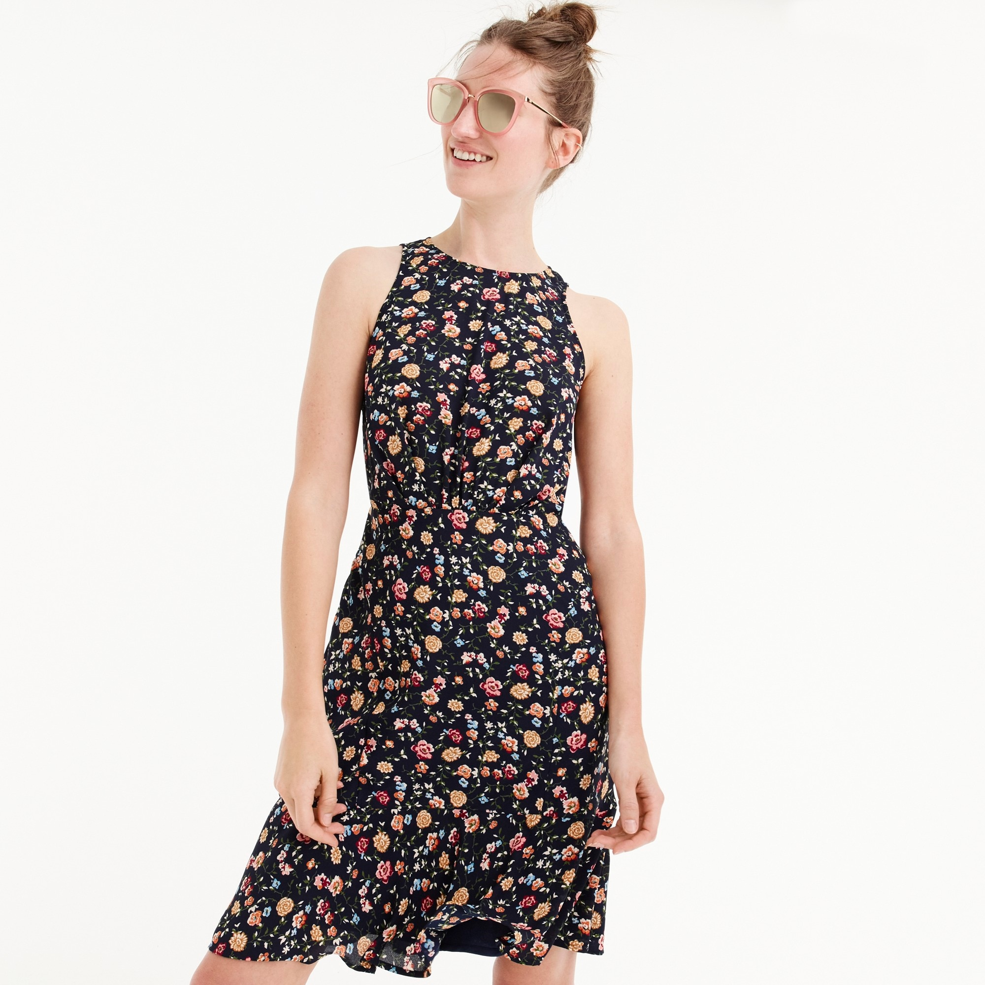 Drapey ruched-waist dress in vintage floral women dresses c