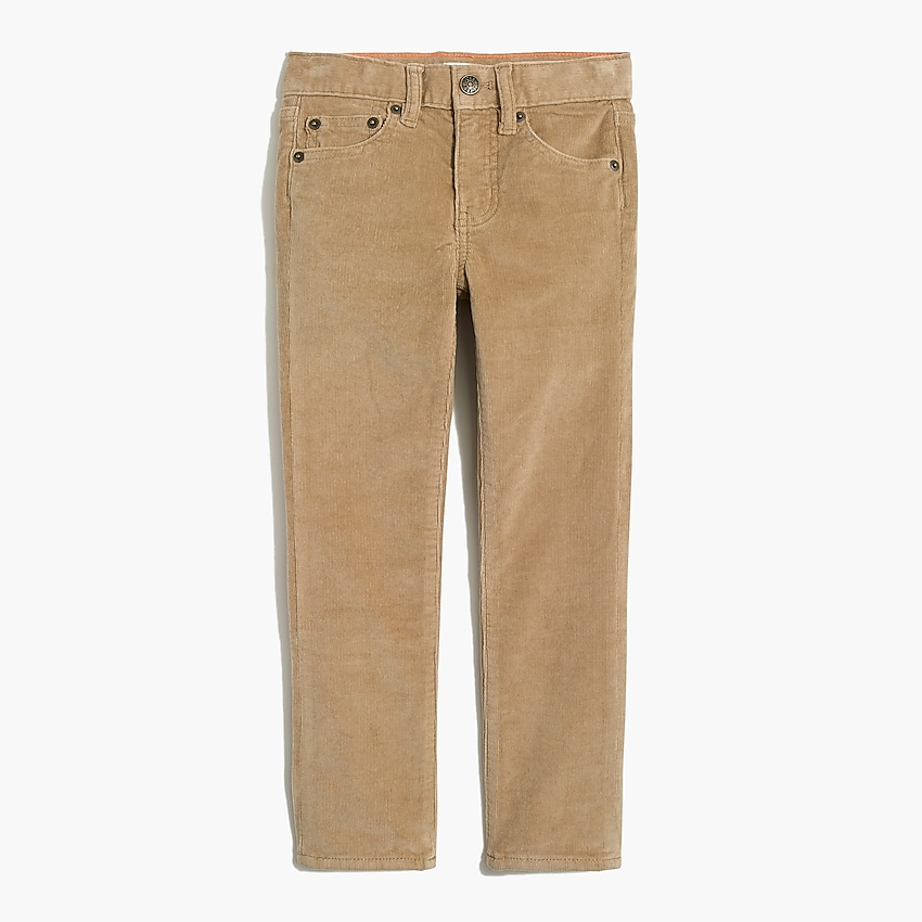 j.crew factory: boys' slim flex cord, right side, view zoomed