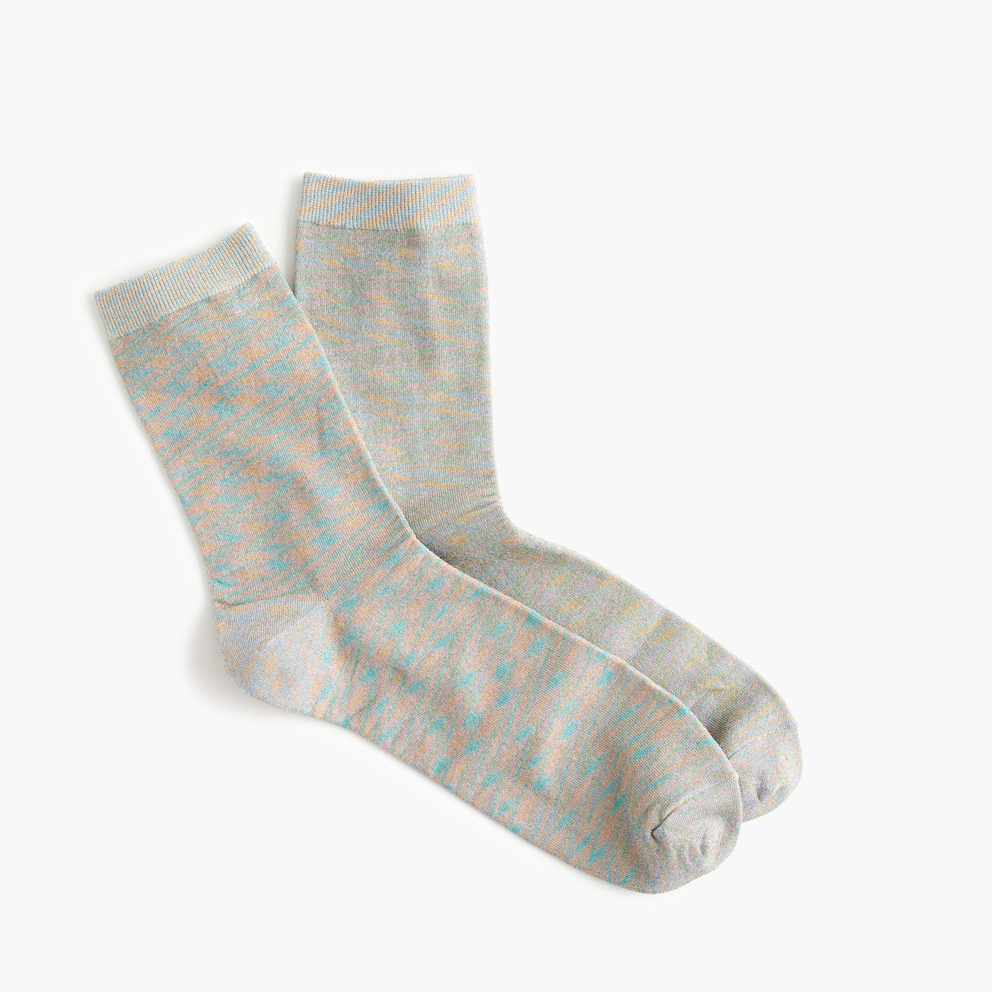 women's space dye lurex bootie socks - women's socks