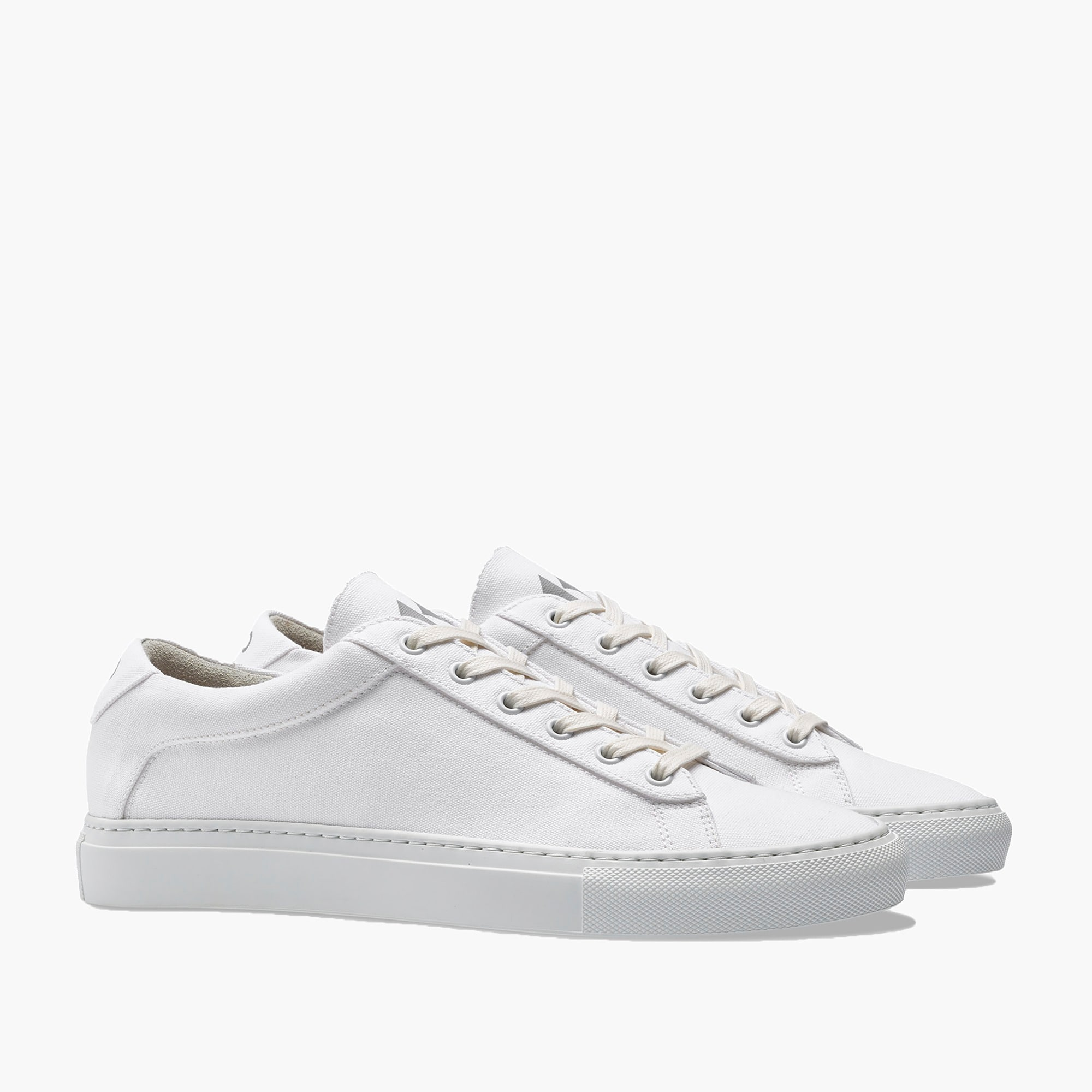 womens Unisex Koio Capri Bianco canvas sneakers