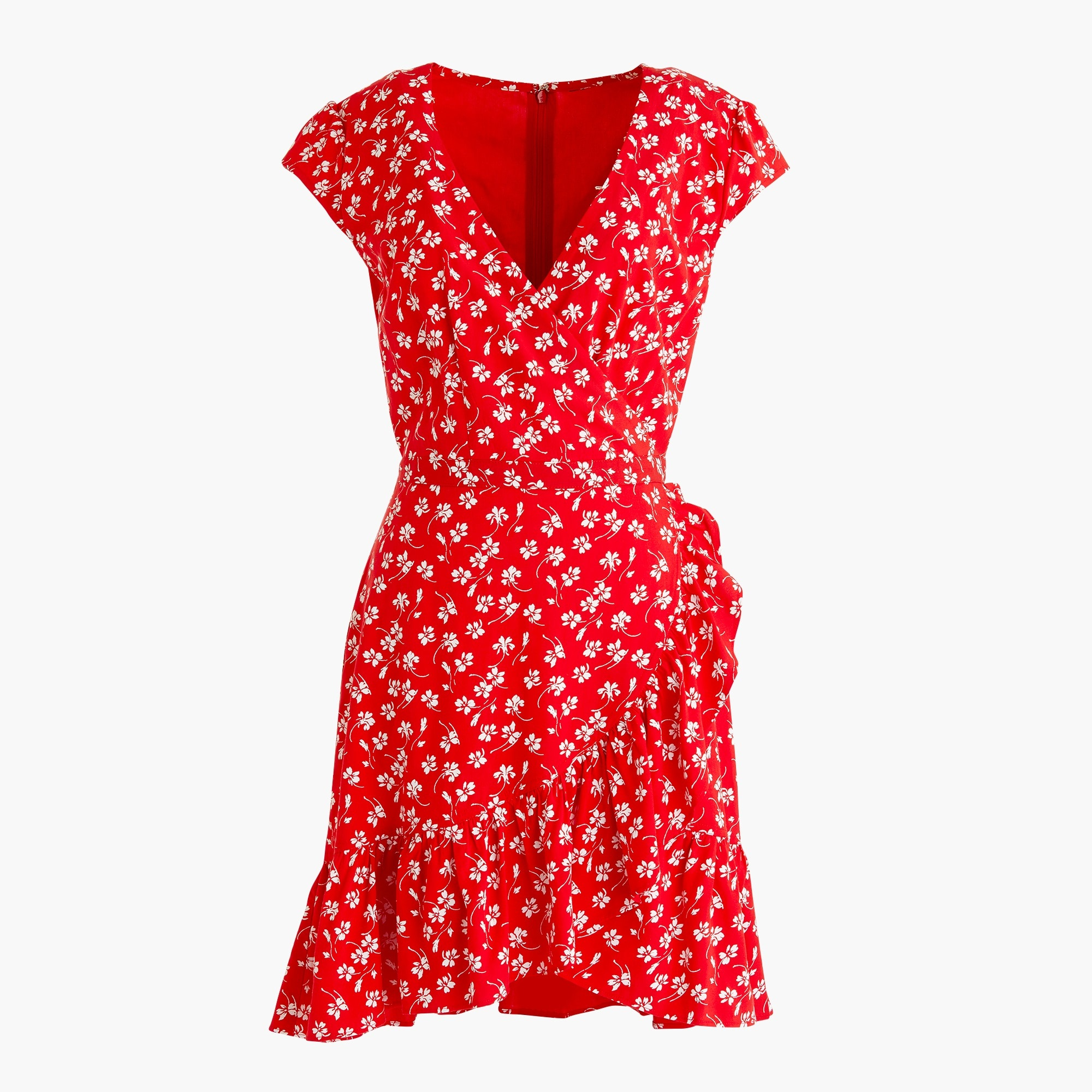 Image 1 for J.Crew Mercantile faux-wrap mini dress in fresh daisies