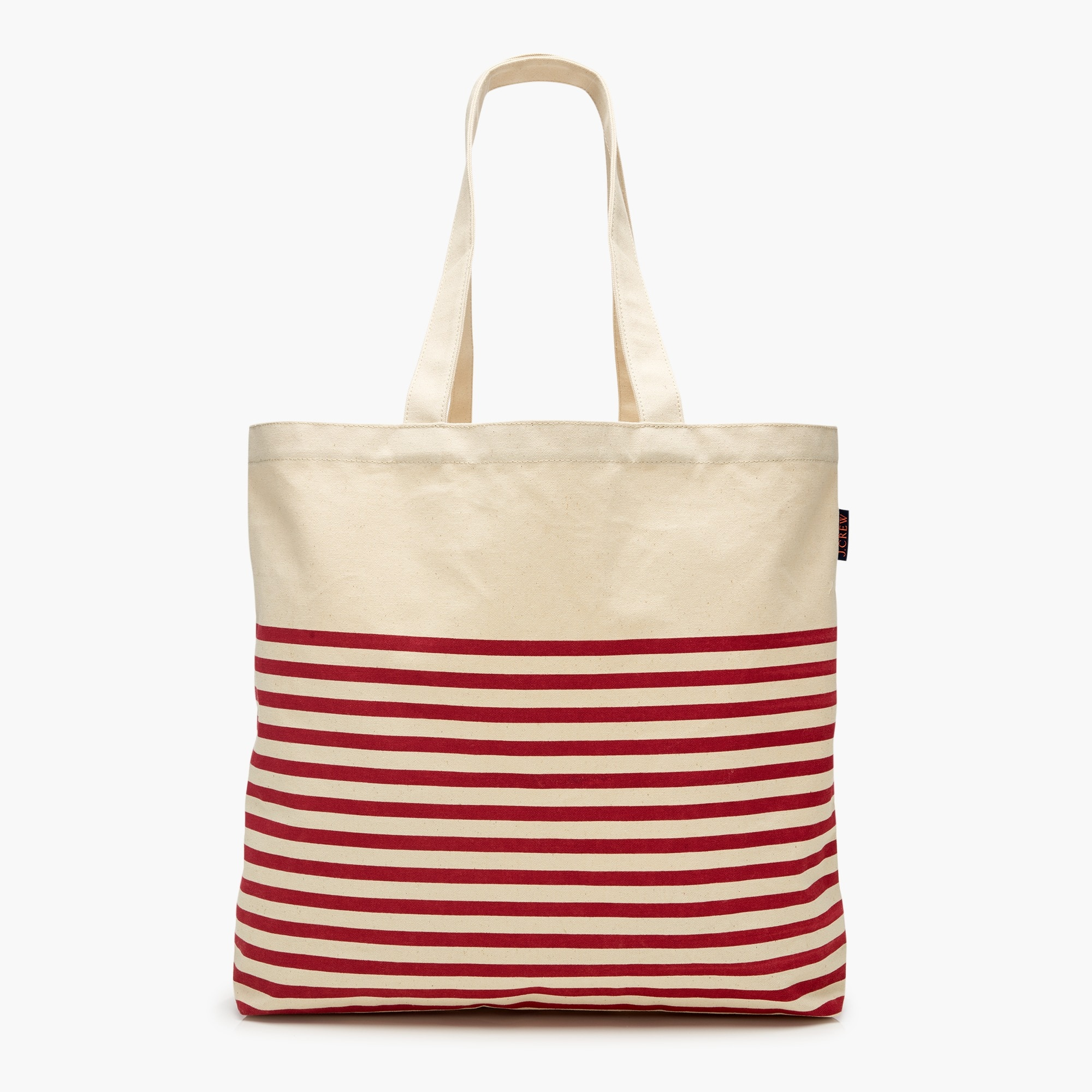 womens Large reusable everyday tote in stripe
