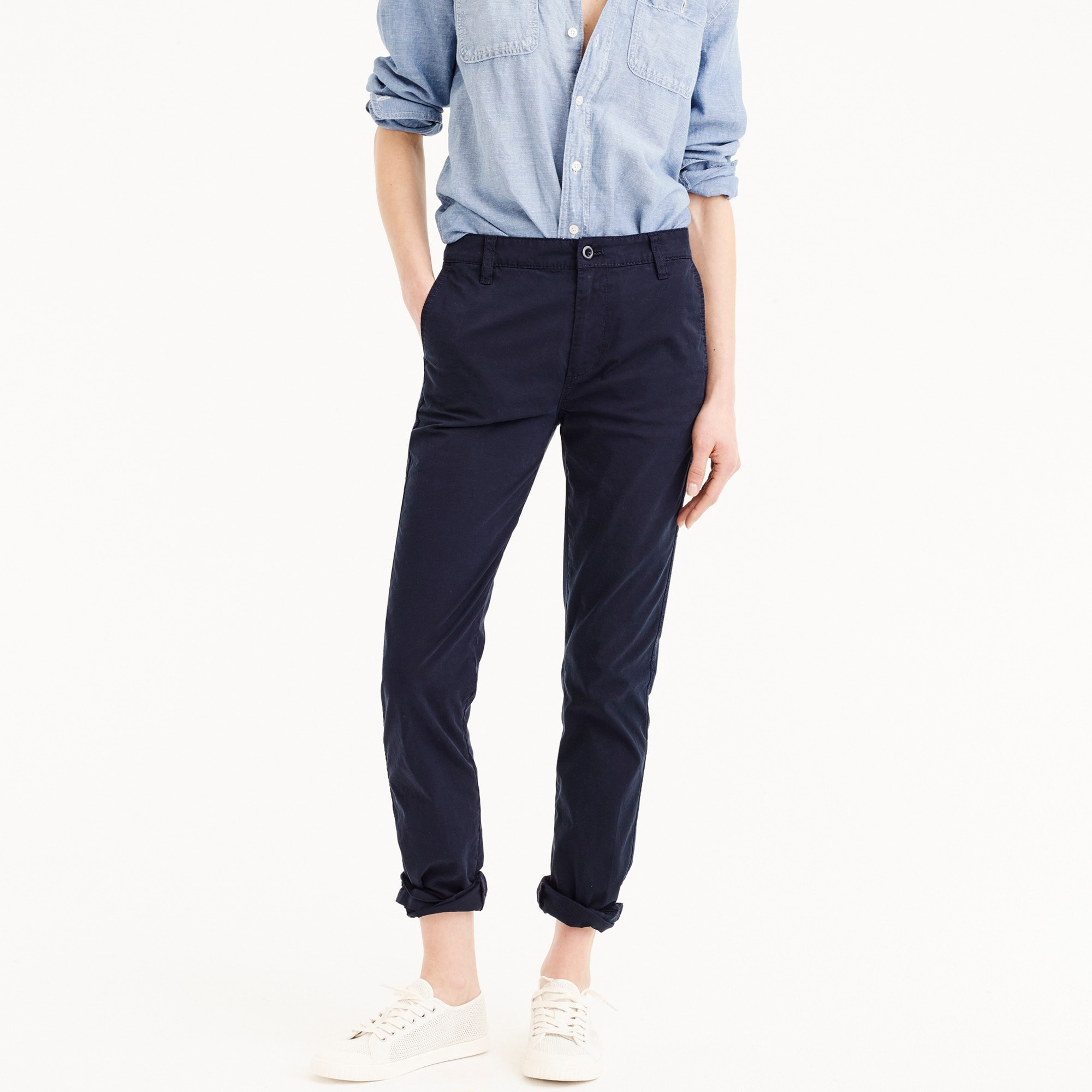 womens Straight-leg pant in stretch chino