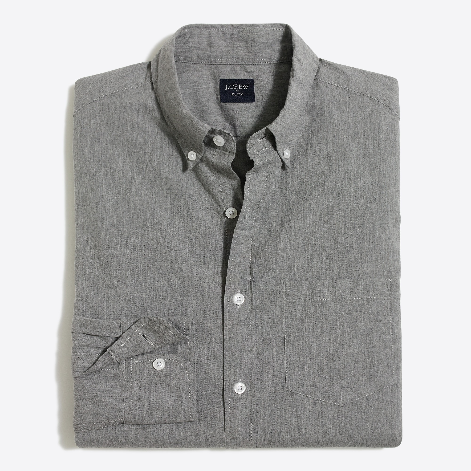 mens J.Crew Mercantile Slim-fit flex heather washed shirt