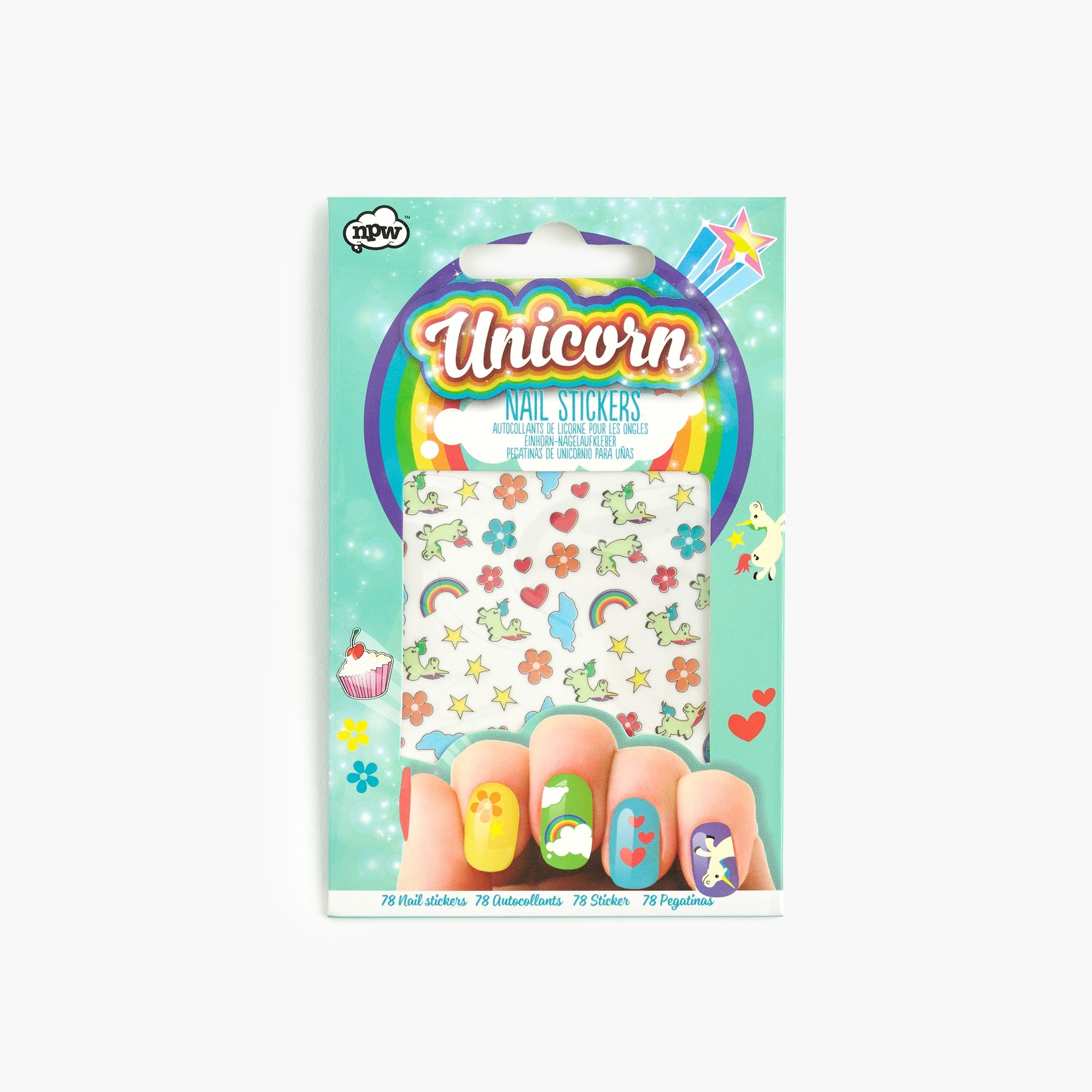 girls' unicorn nail stickers - girls' accessories