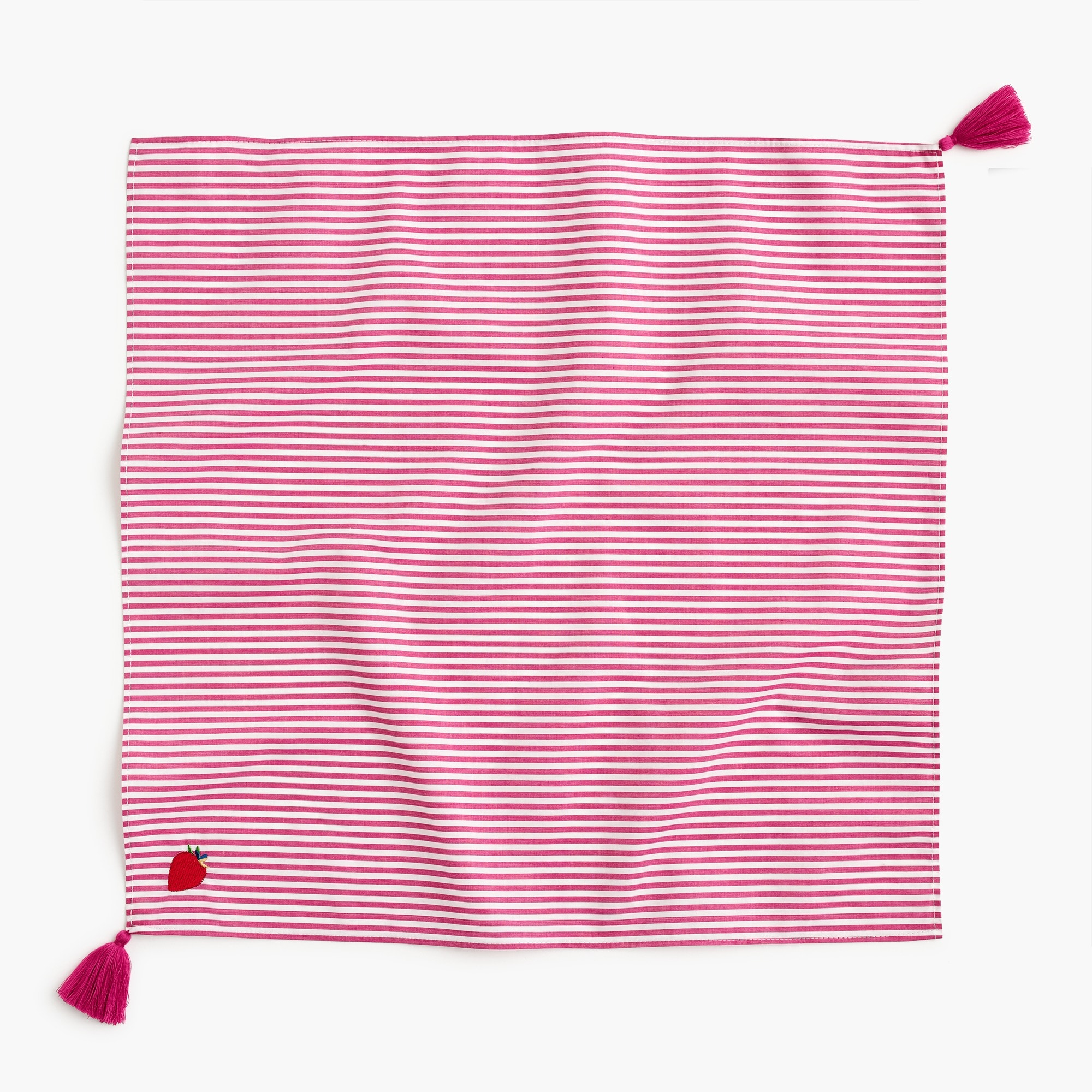women's bandana scarf in strawberry stripe - women's accessories