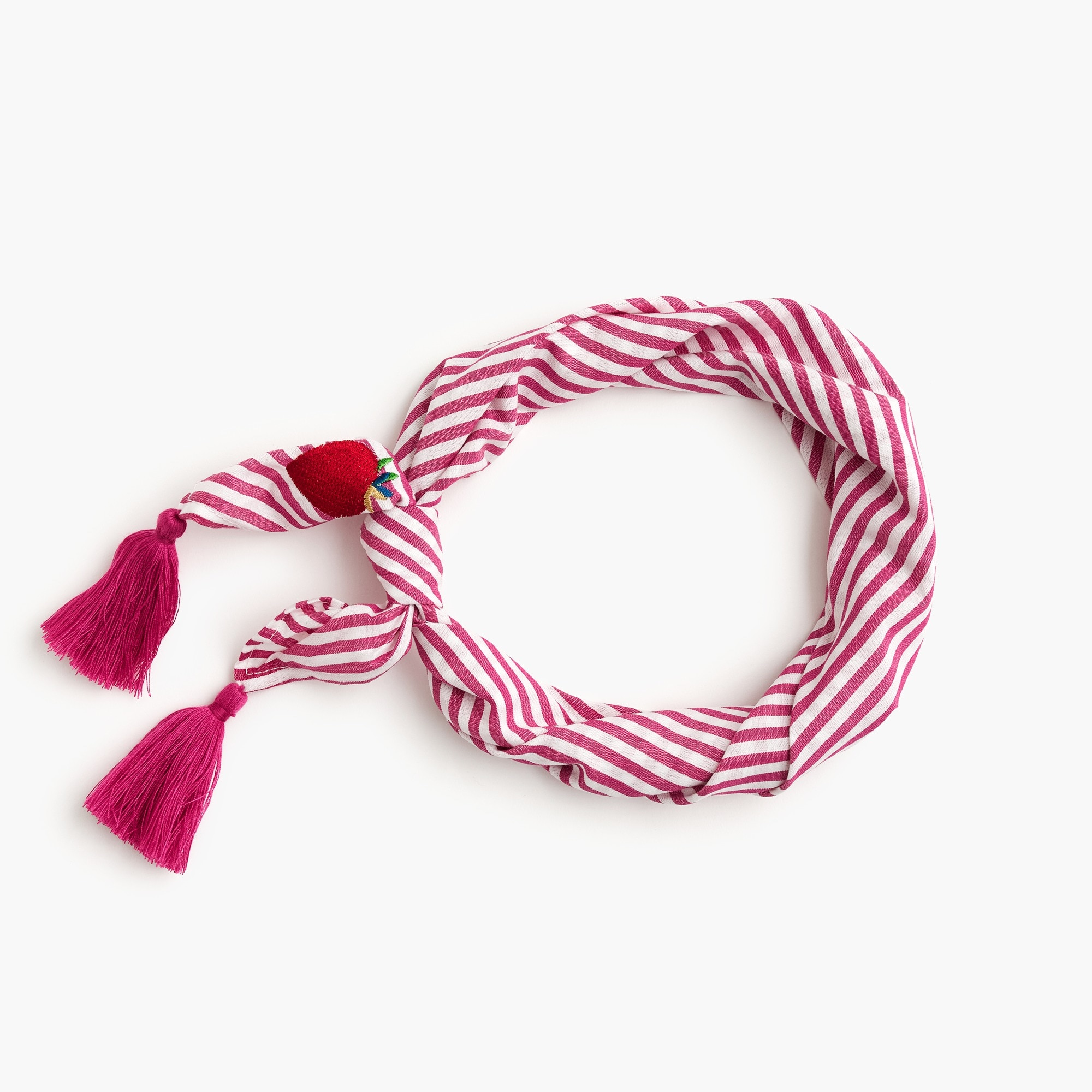 Bandana scarf in strawberry stripe