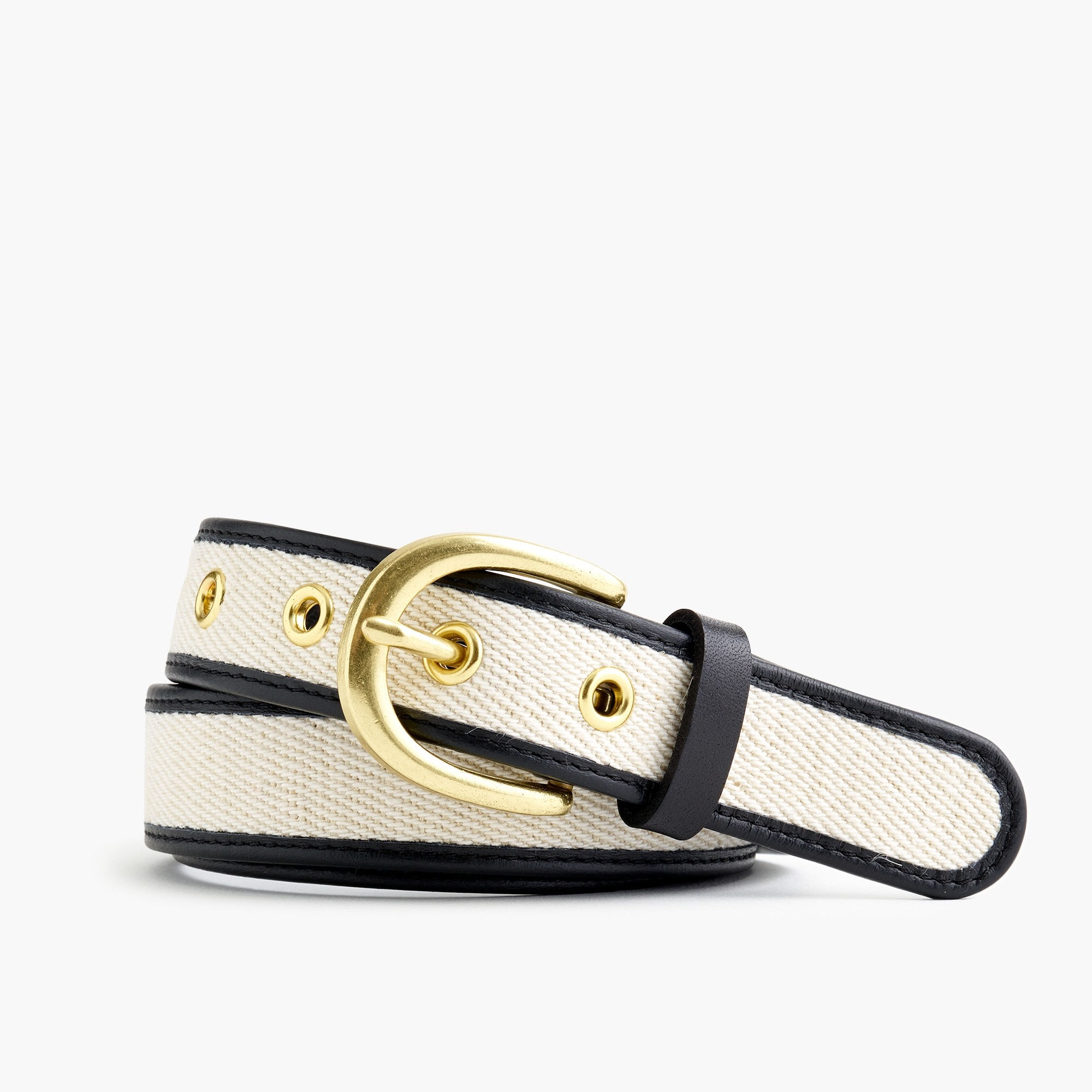women's canvas and leather belt - women's belts