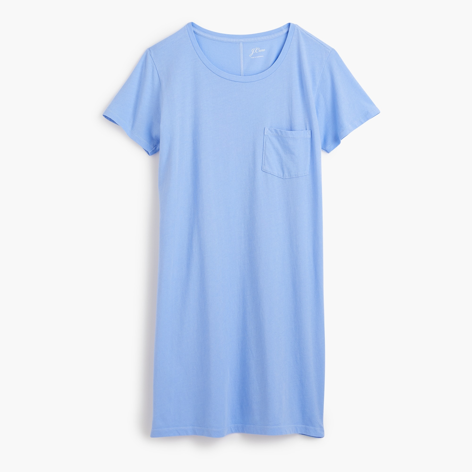 Image 1 for Garment-dyed pocket T-shirt dress
