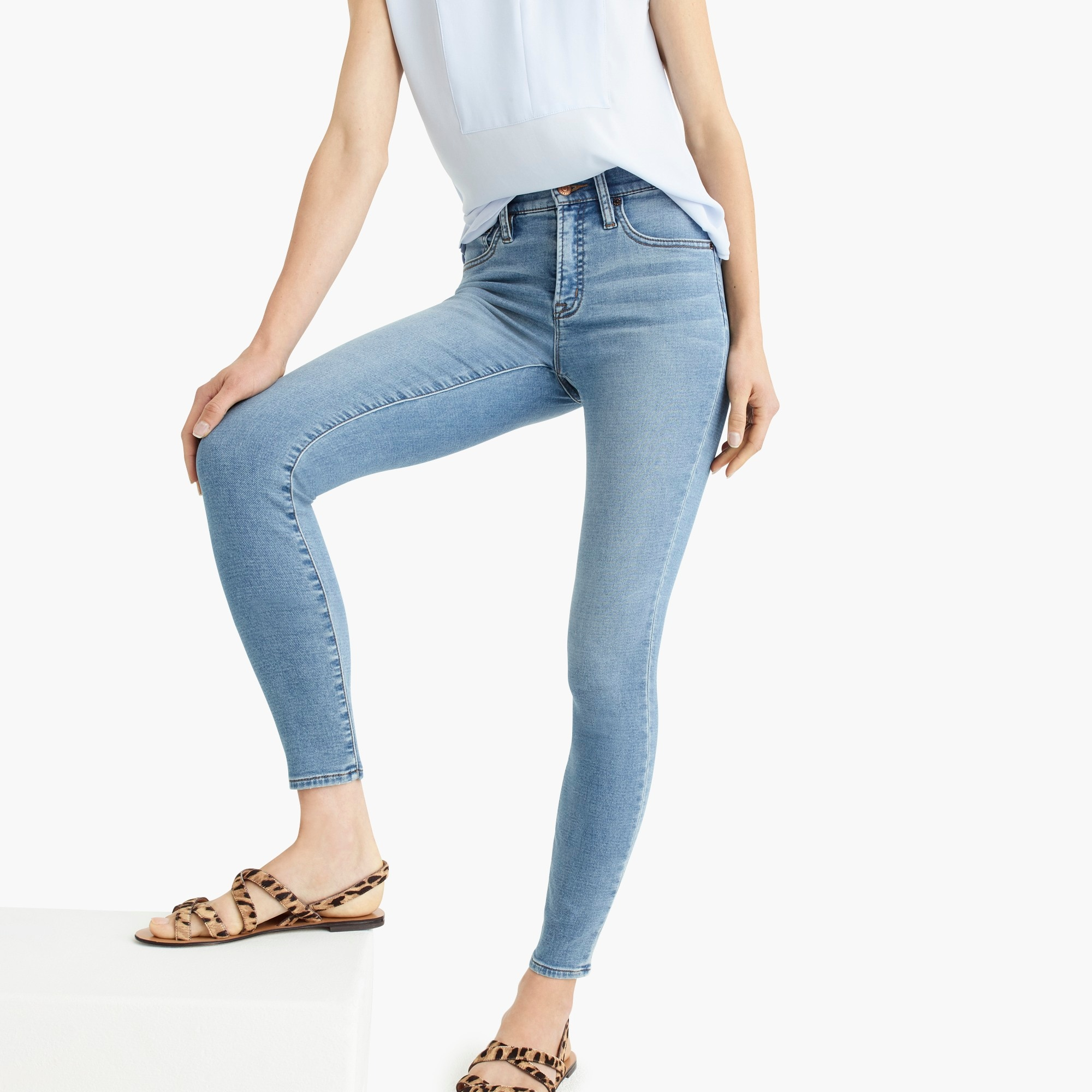 "Tall 9"" high-rise jeggings in light blue wash"
