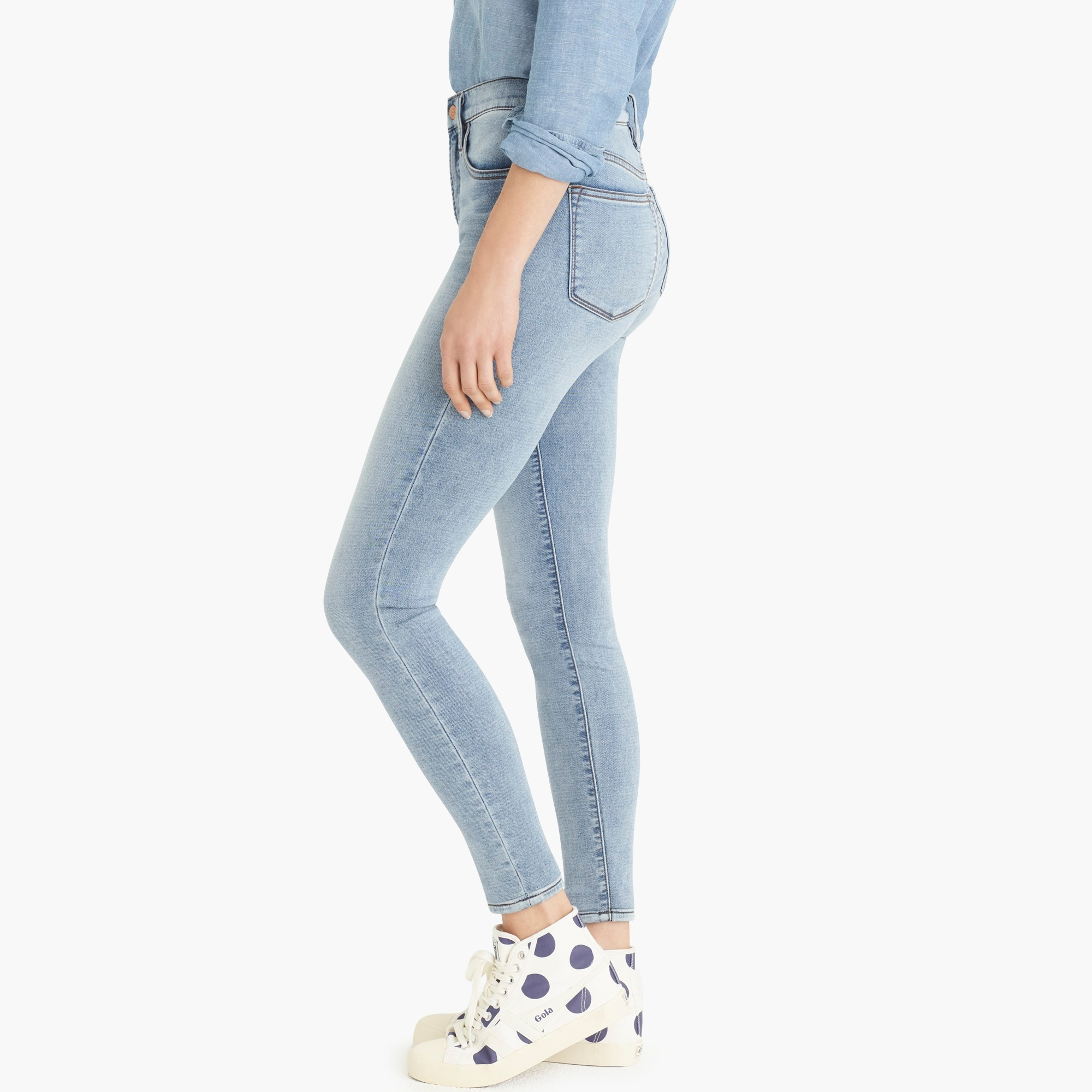 "Tall 9"" high-rise jeggings in azure wash"