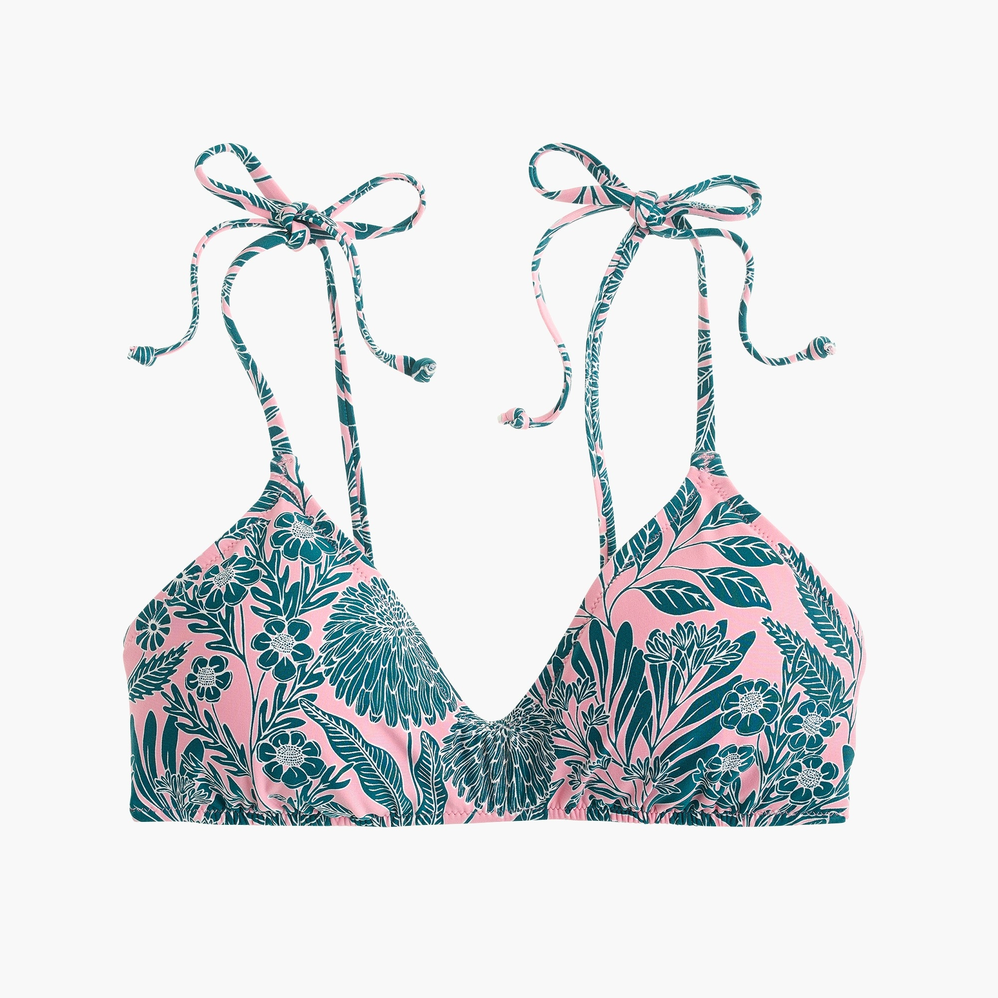 Image 1 for J.Crew X Abigail Borg tie-shoulder french bikini top in prairie dusk floral