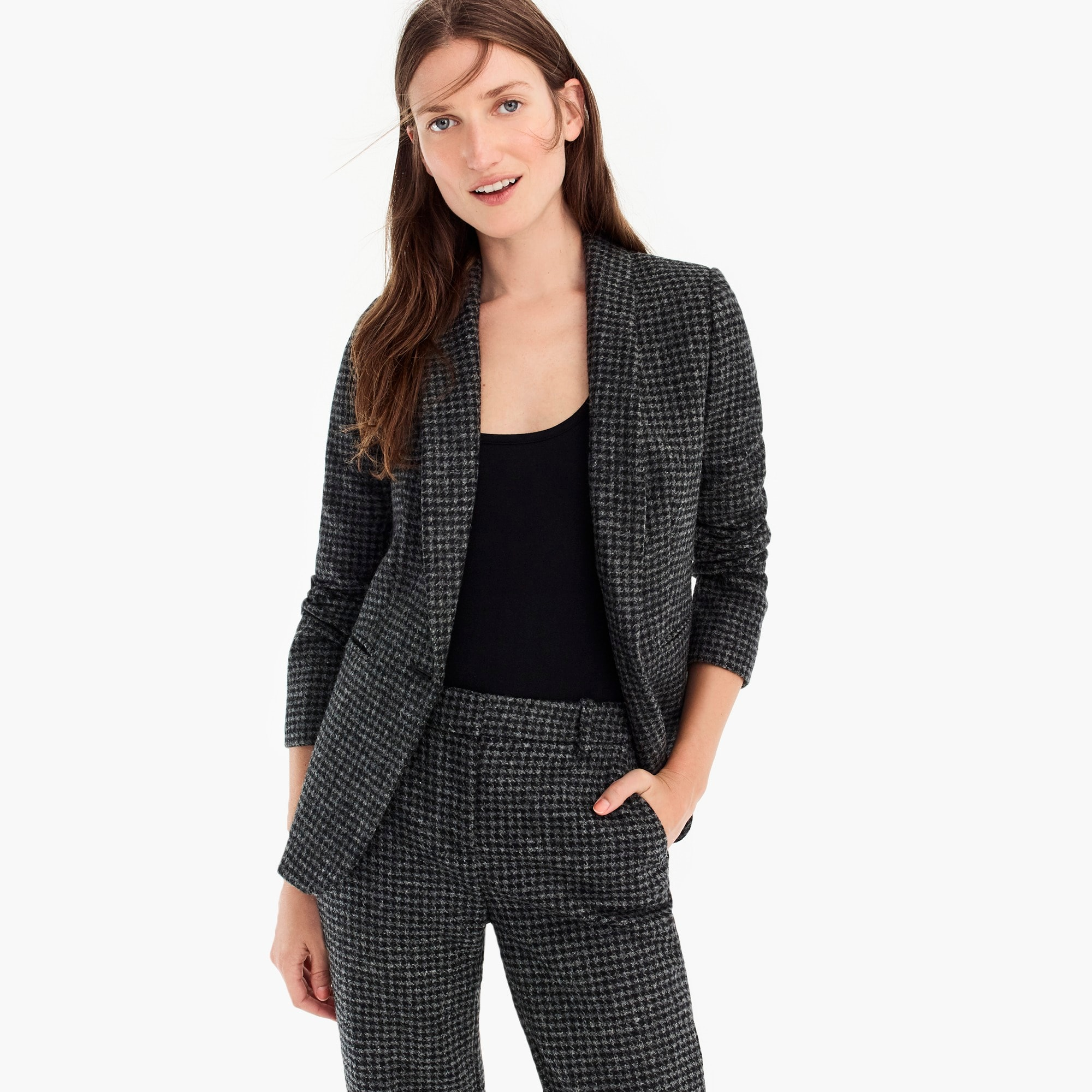 womens Parke blazer in houndstooth wool