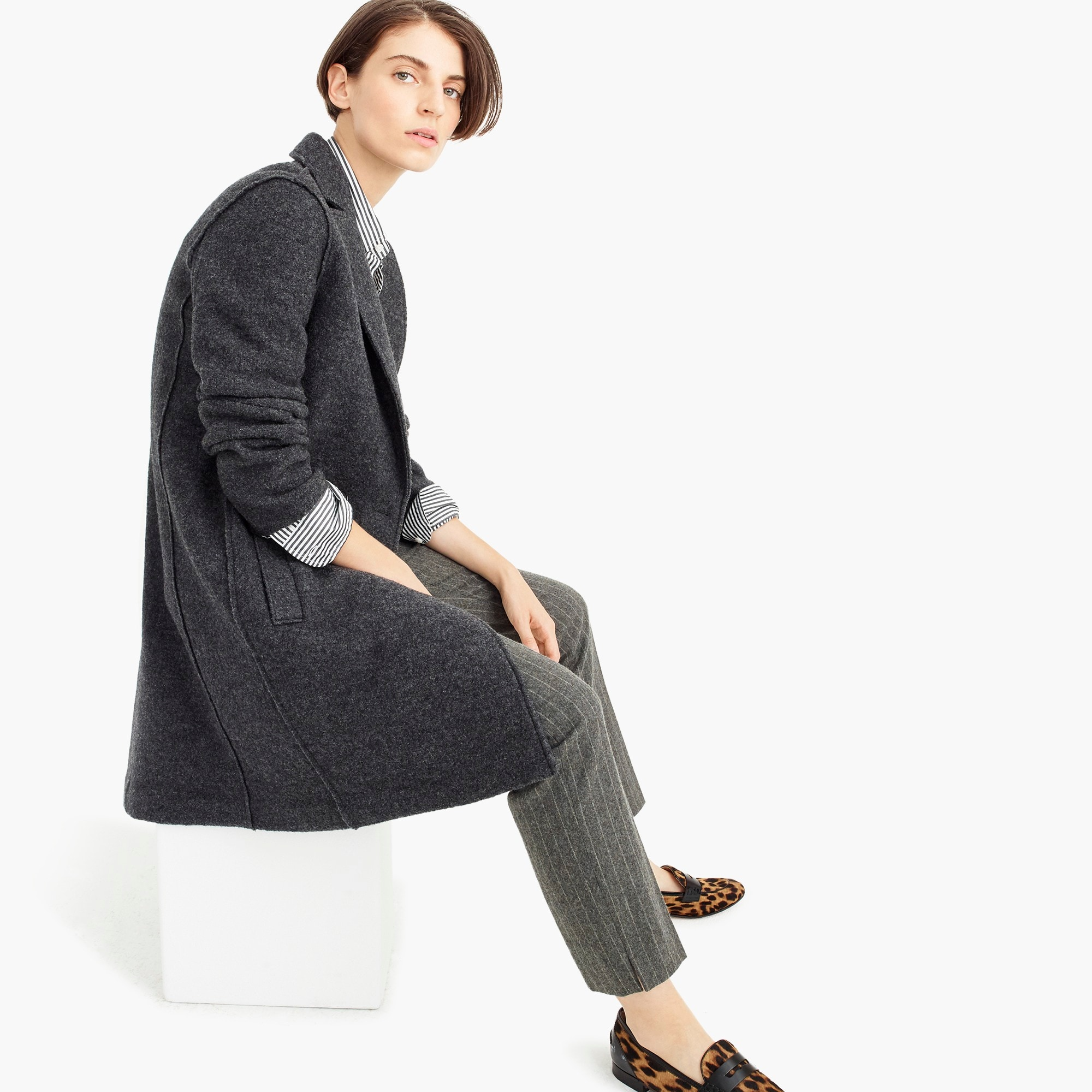 womens Daphne topcoat in Italian boiled wool