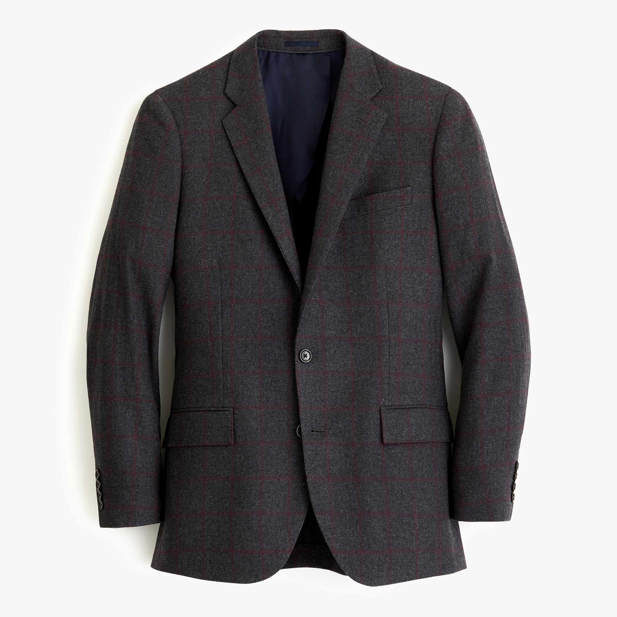 ludlow slim-fit blazer in bold windowpane wool bend : men wool