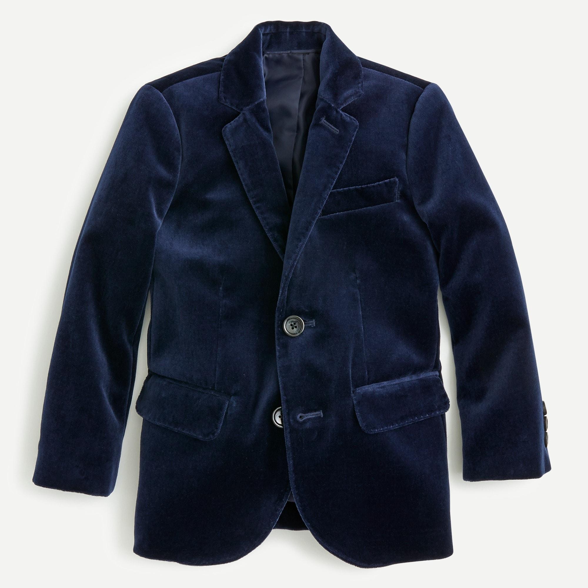 boys' ludlow blazer in velvet : boy blazers