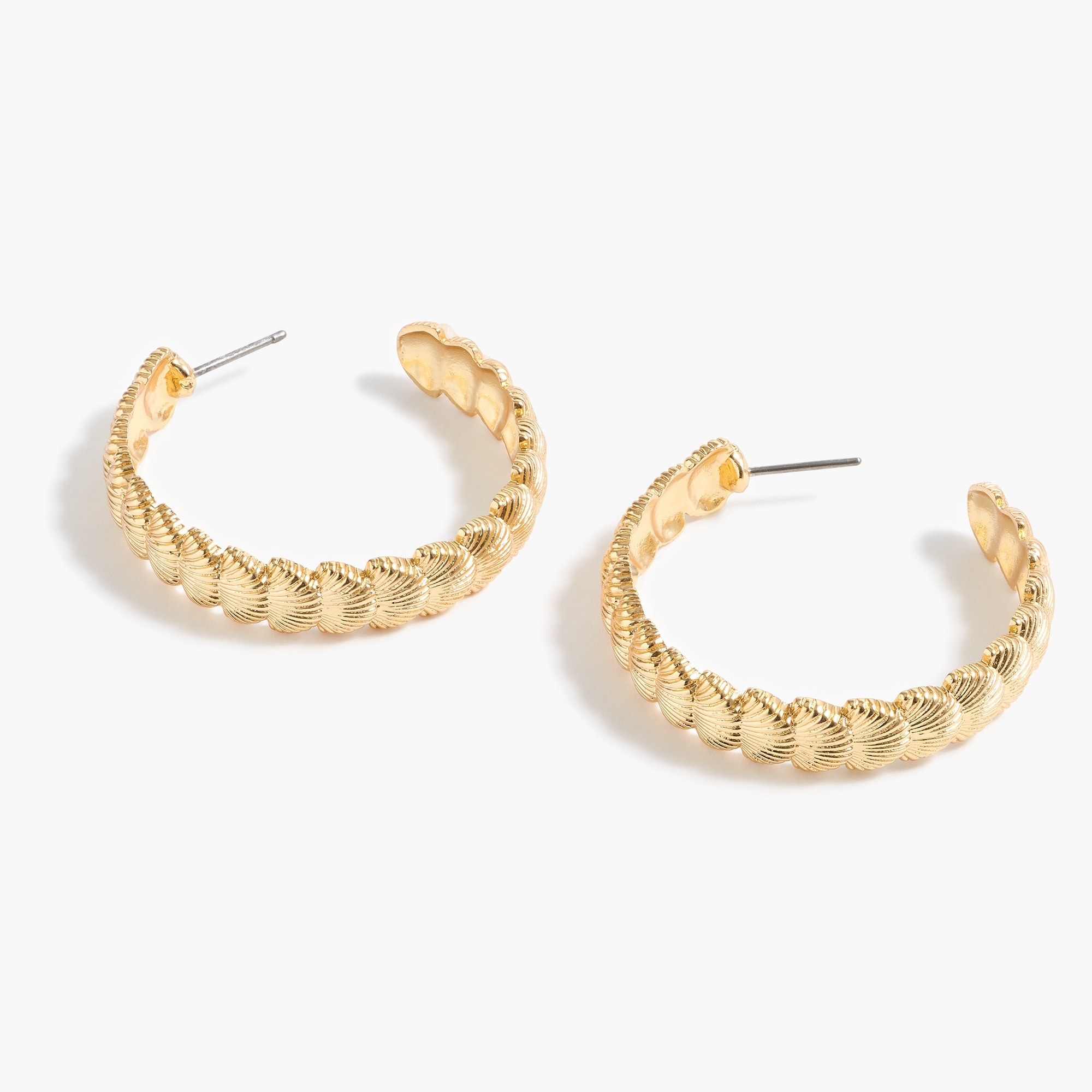 womens Seashell hoop earrings