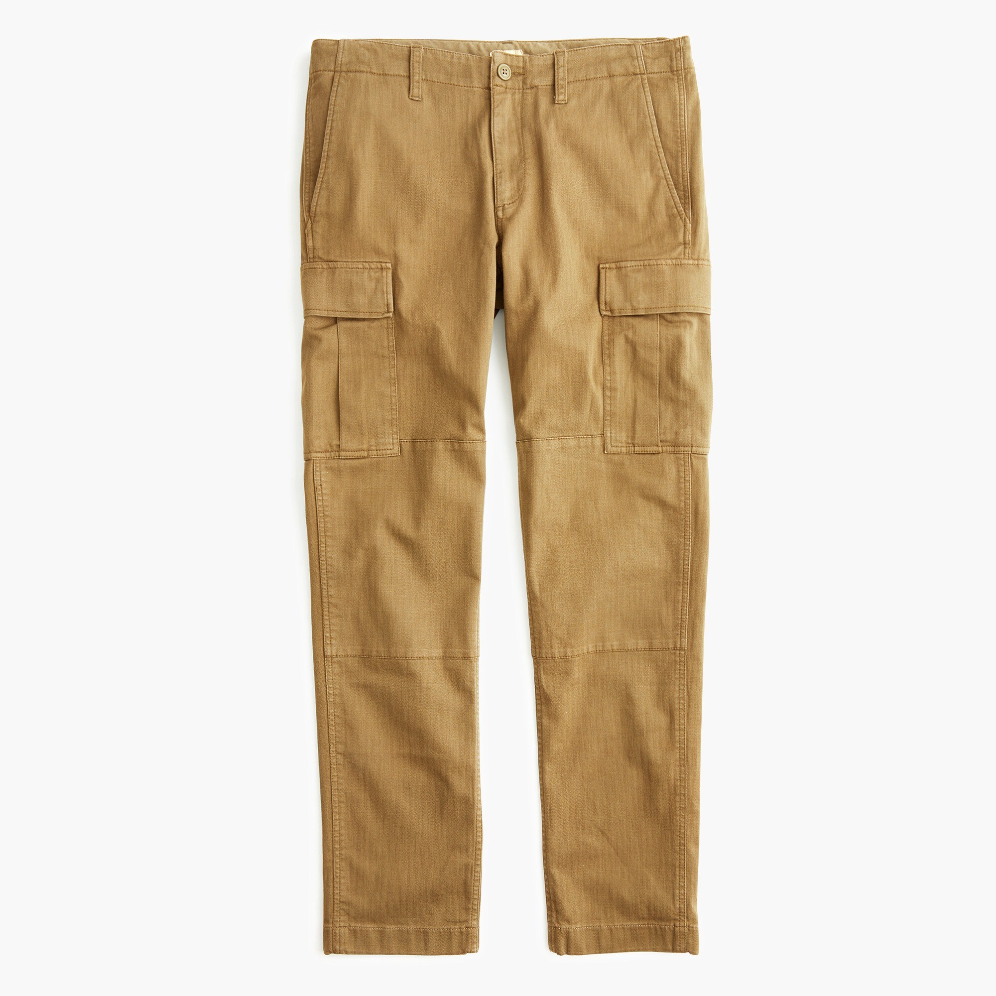 mens 770 Straight-fit stretch cargo pant in garment-dyed herringbone