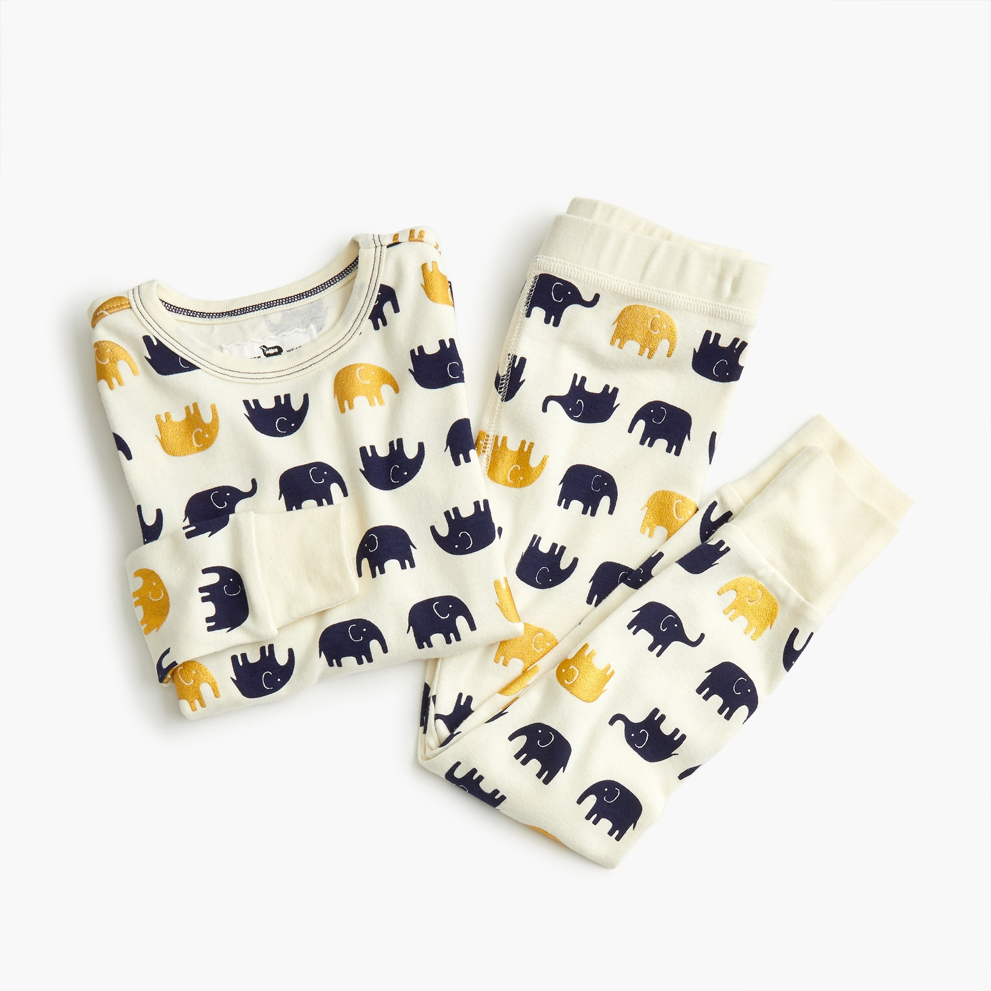 girls Girls' pajama set in elephants