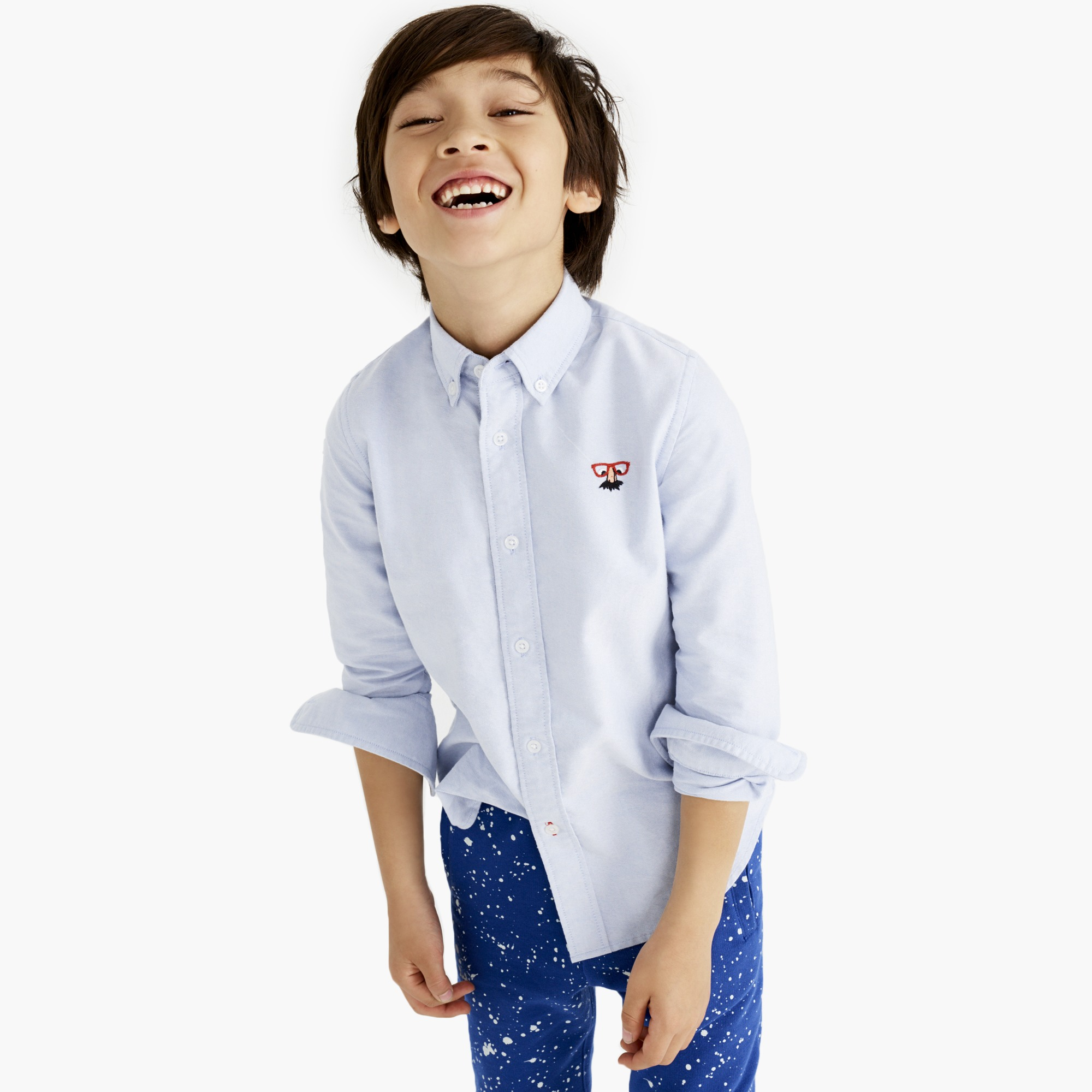 Image 1 for Boys' critter oxford shirt