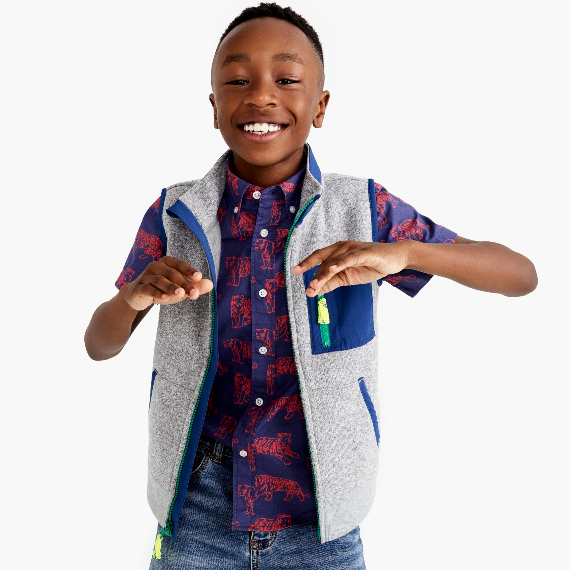 boys Boys' Summit fleece vest