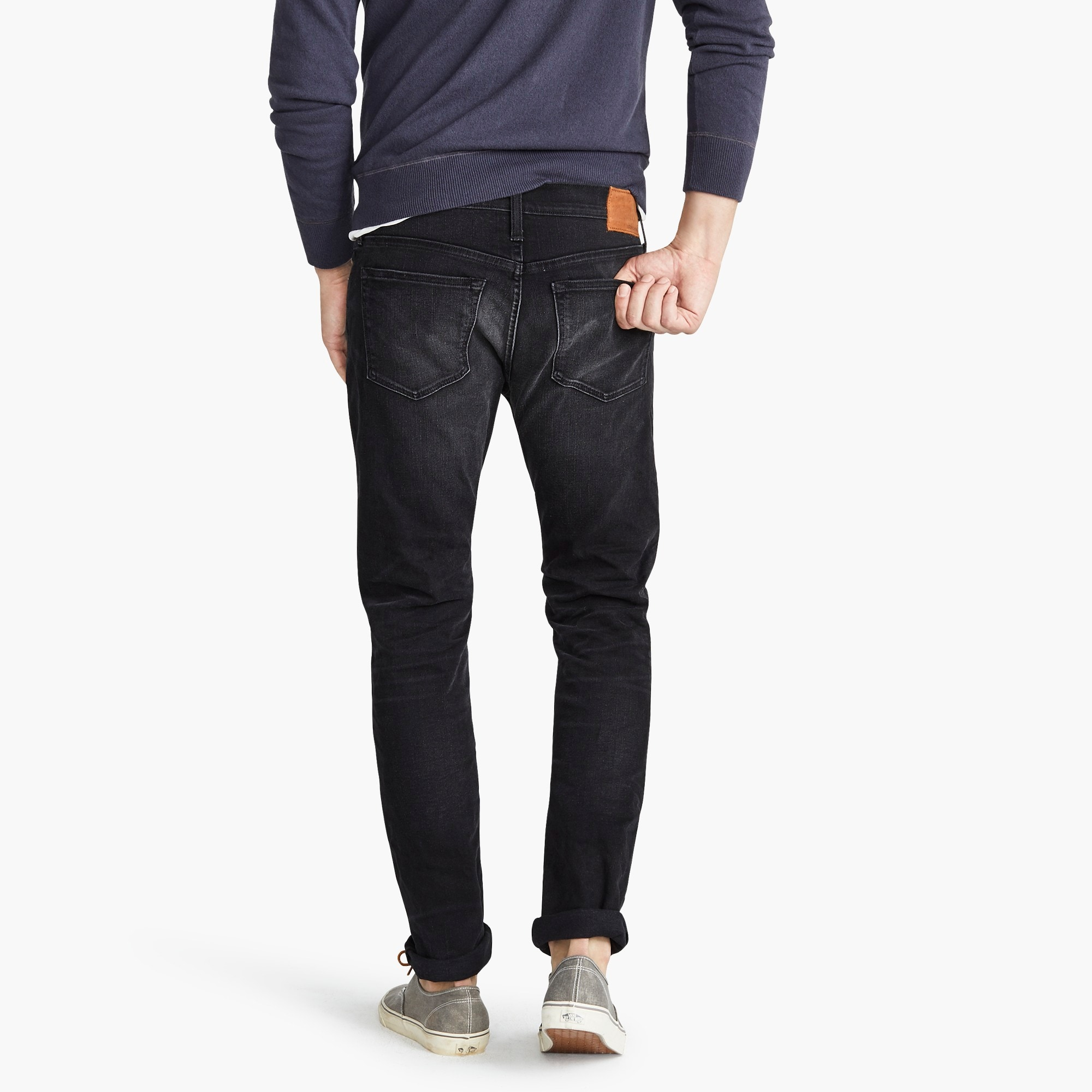 484 Slim-fit stretch jean in washed black