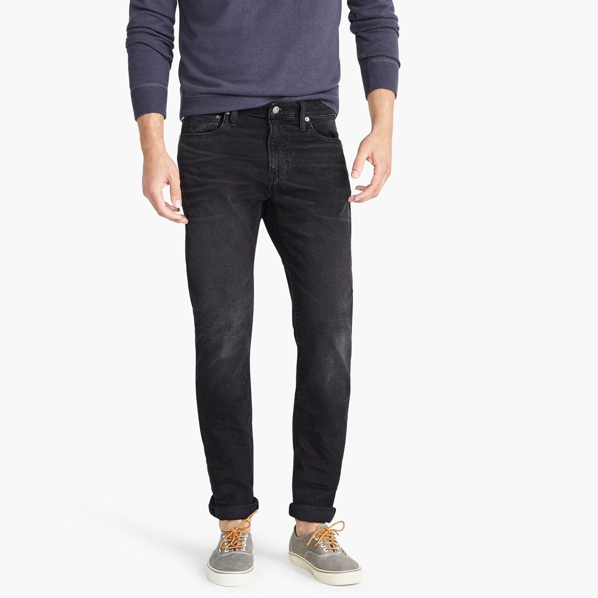 mens 484 Slim-fit stretch jean in washed black