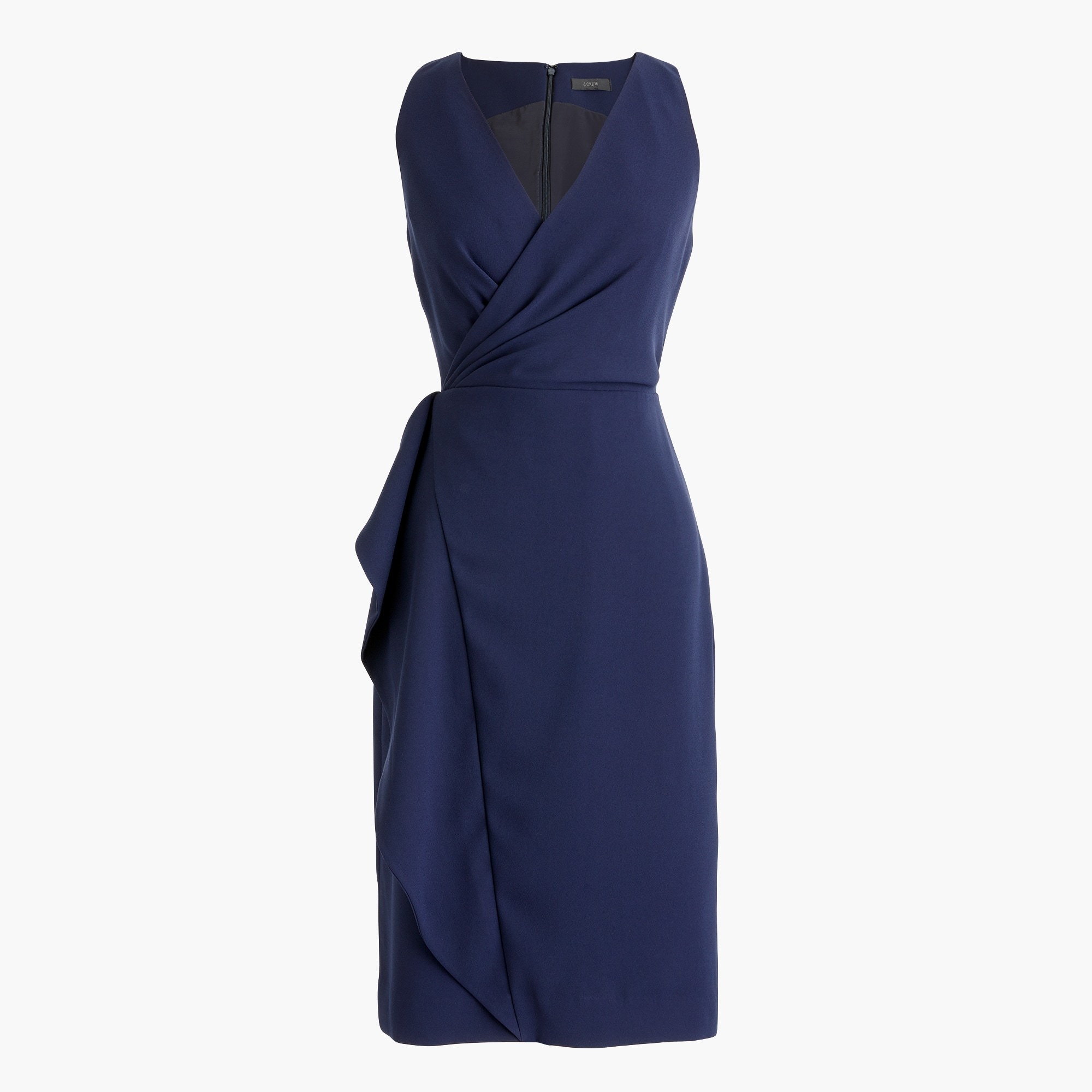 women's side-sash dress in 365 crepe - women's dresses