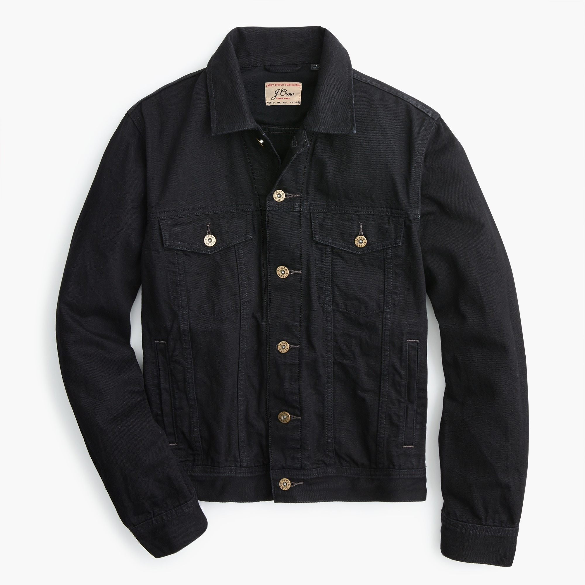 mens Denim jacket in washed black