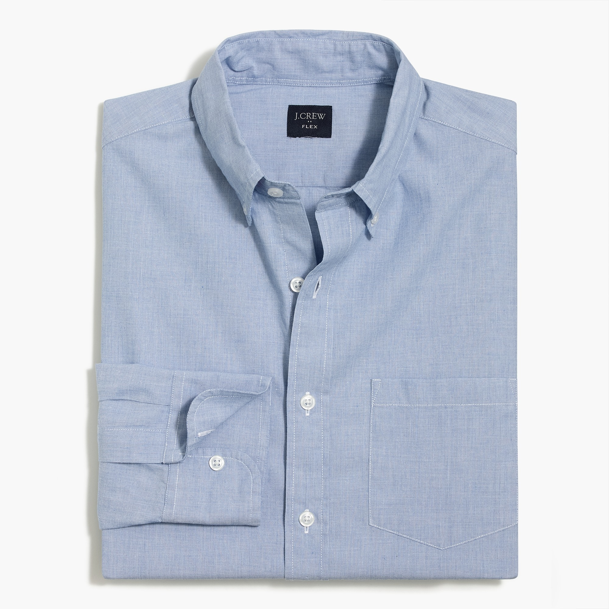mens J.Crew Mercantile Slim-fit flex washed shirt in end-on-end cotton
