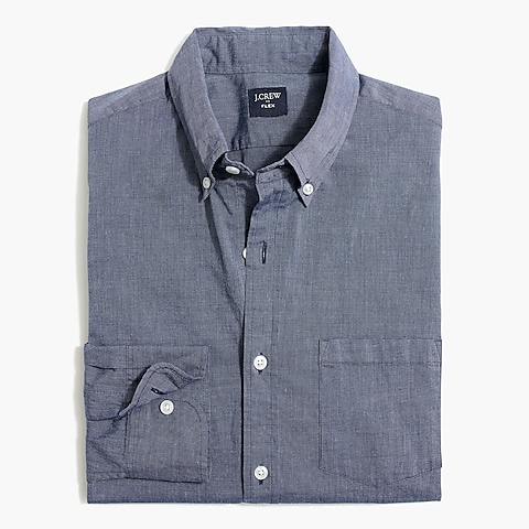 factory mens Soid slim flex casual shirt