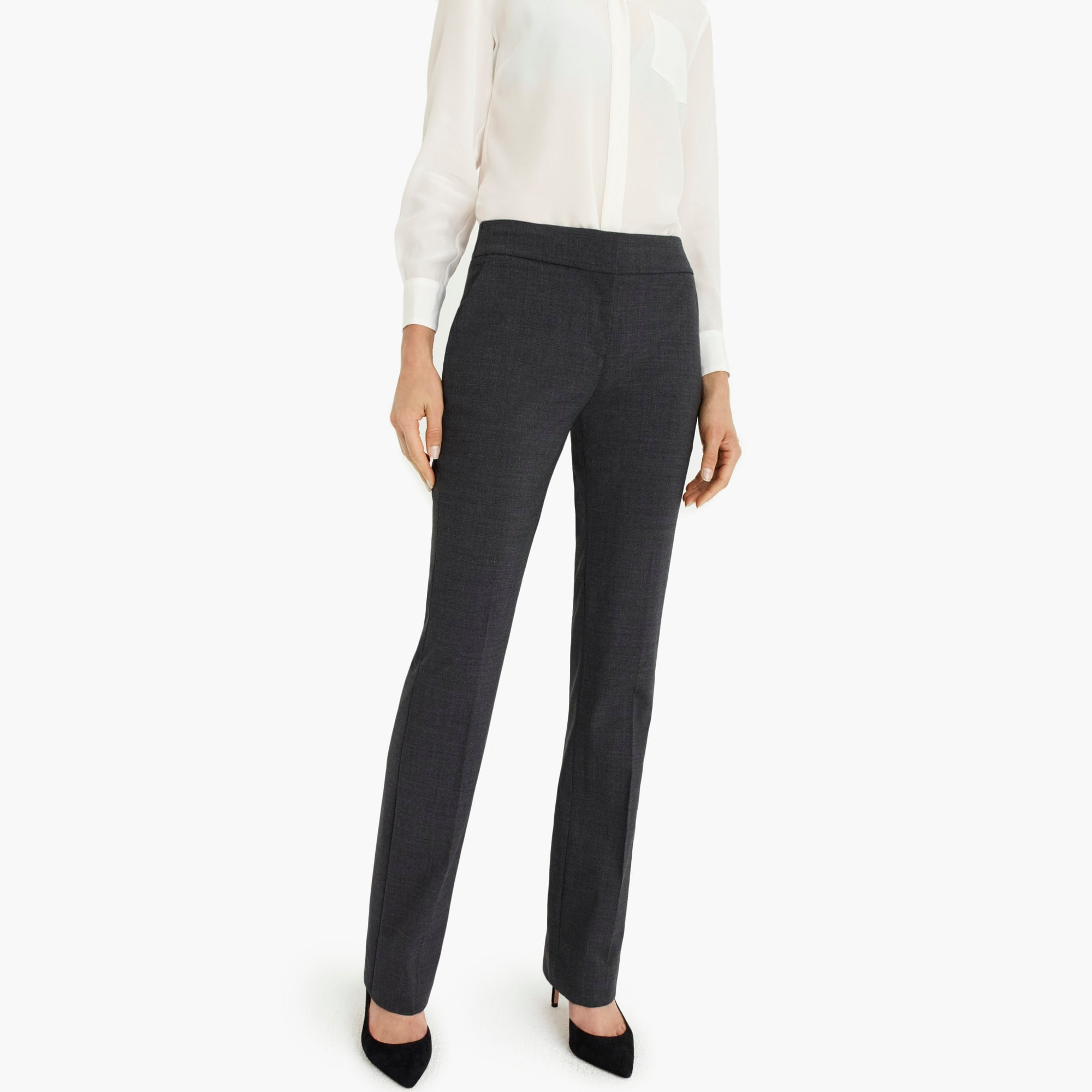 womens Edie full-length trouser in Italian stretch wool