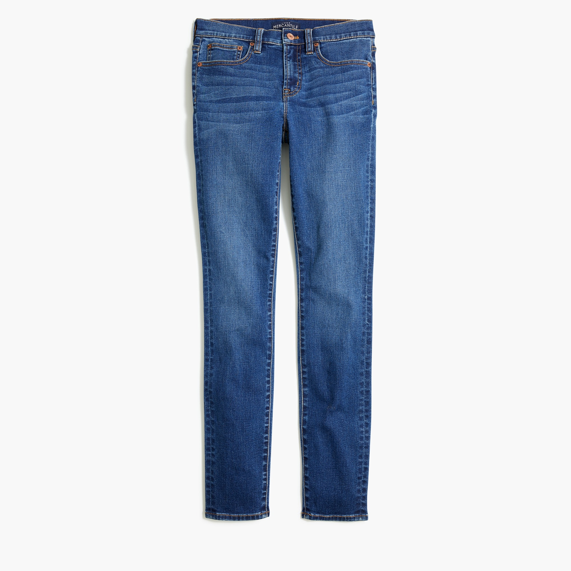 "8"" midrise skinny jean in Rockaway wash with 30"" inseam"