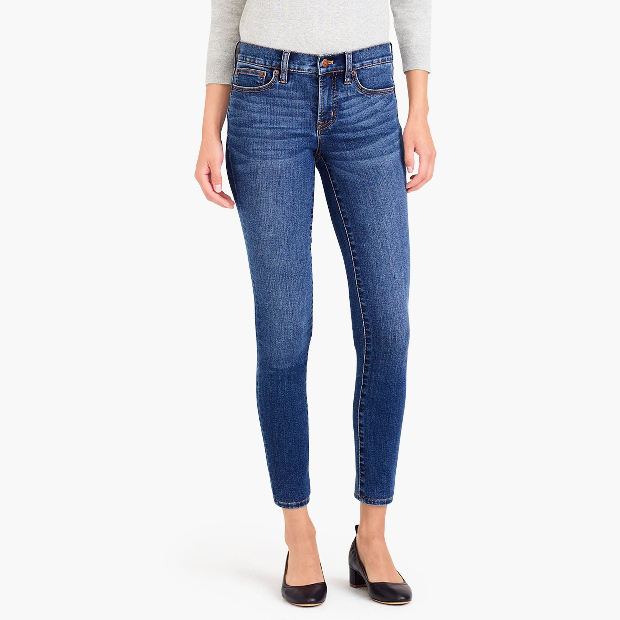 "8"" midrise skinny jean in rockaway wash with 30"" inseam : women mid rise skinny"