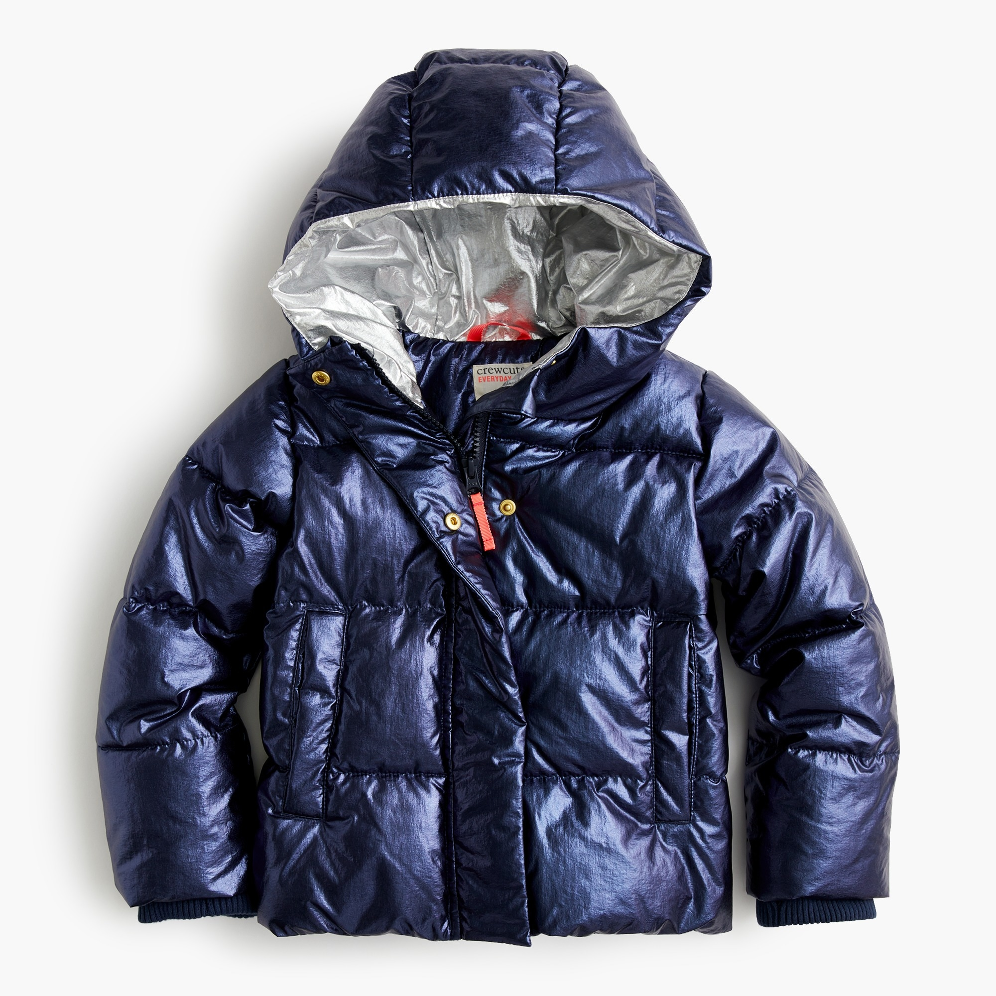 girls Girls' metallic puffer jacket with Primaloft®