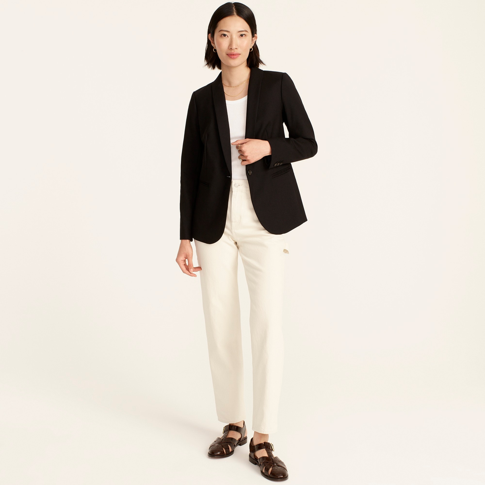 womens Parke blazer in wool flannel