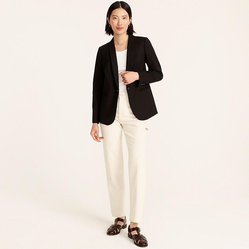 j.crew: parke blazer in wool flannel for women, right side, view zoomed
