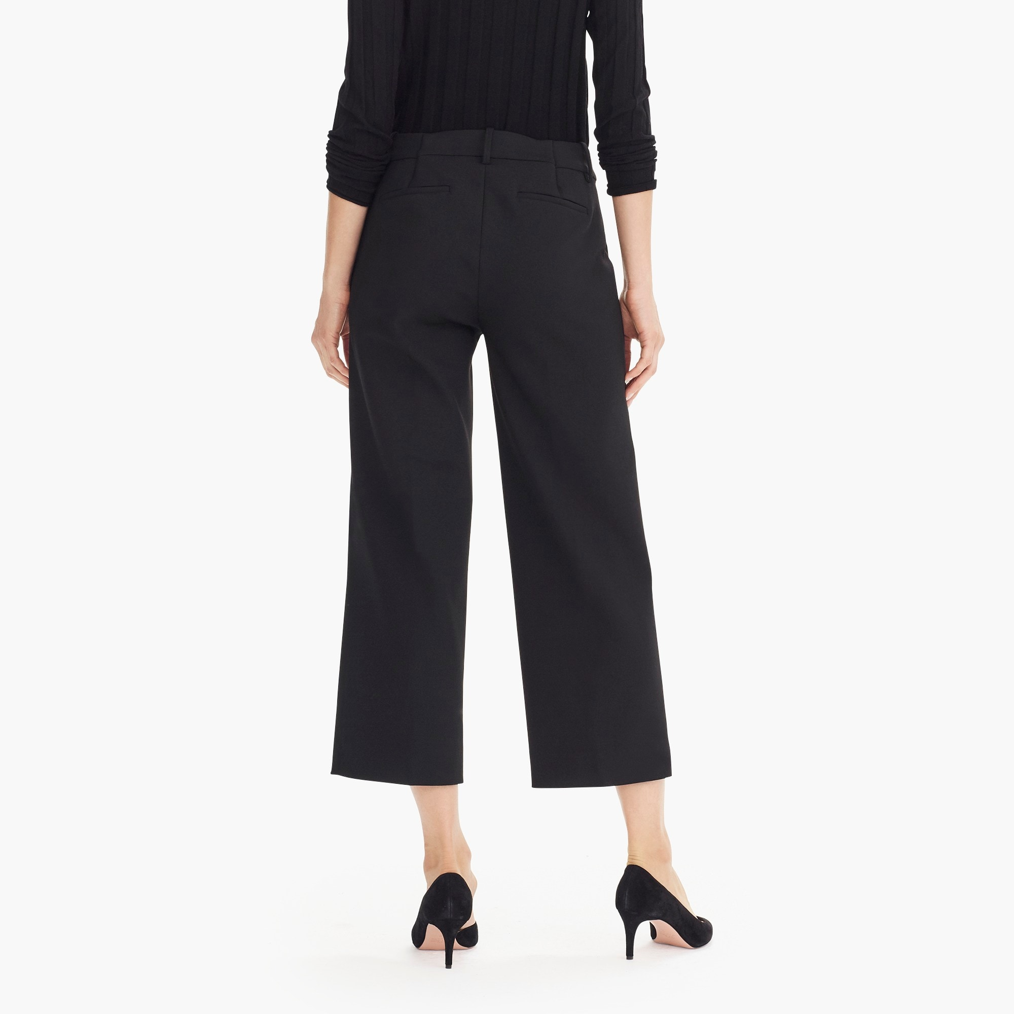 Image 6 for Petite High-rise Peyton wide-leg pant in four-season stretch