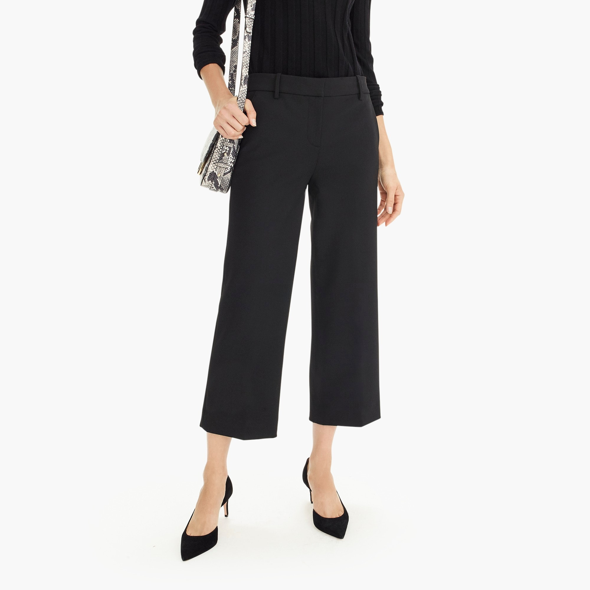 Petite High-rise Peyton wide-leg pant in four-season stretch
